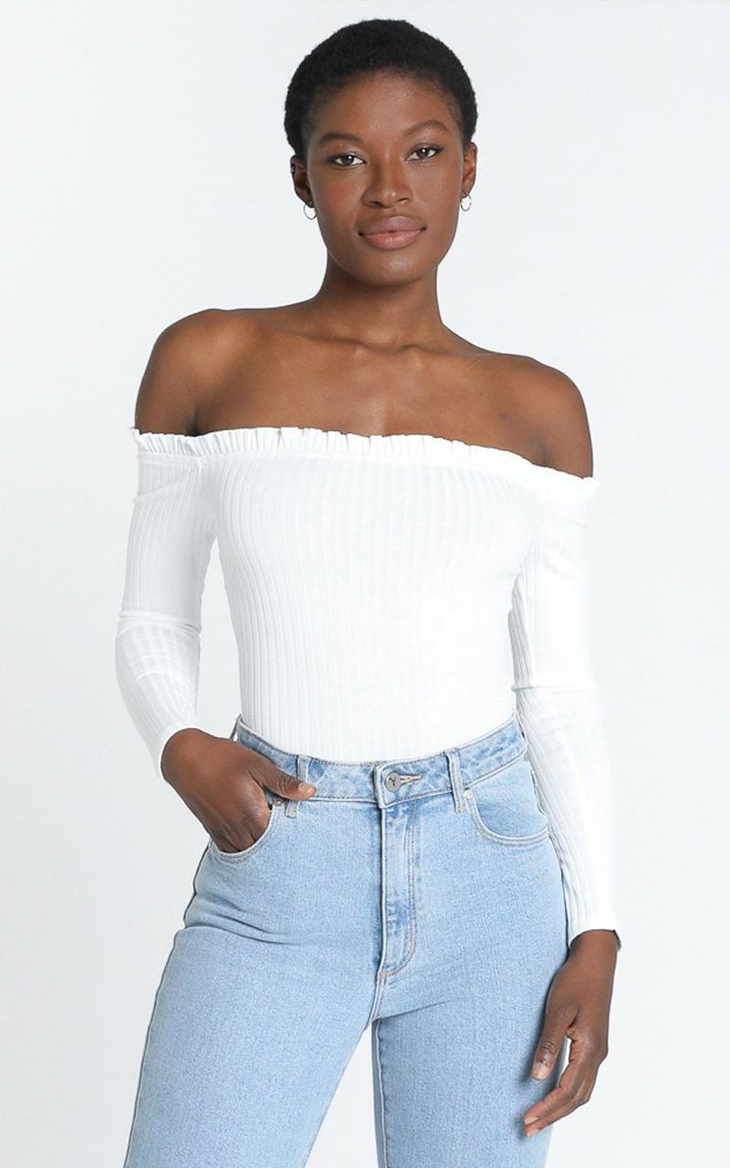 Fresh As A Daisy bodysuit in white - 20 (XXXXL), White, hi-res image number null