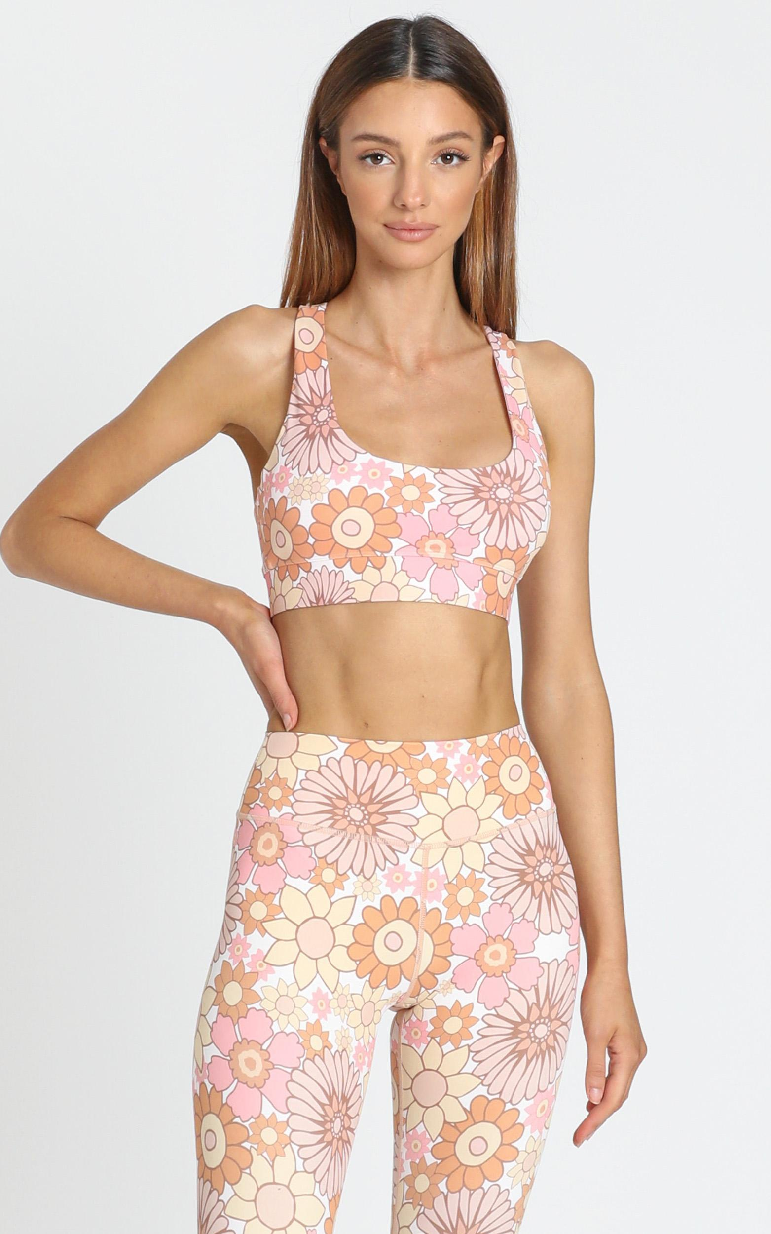 Kavala Collective Seseh Flower Power Crop  - 6 (XS), Pink, hi-res image number null