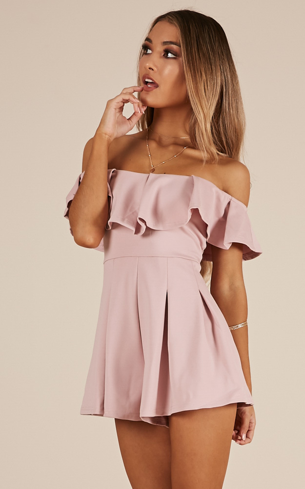 Contain My Love playsuit in blush - 8 (S), PNK1, hi-res image number null