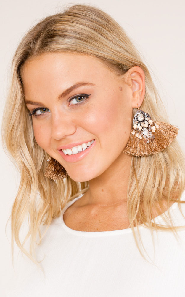 How About That Earrings in beige , Beige, hi-res image number null