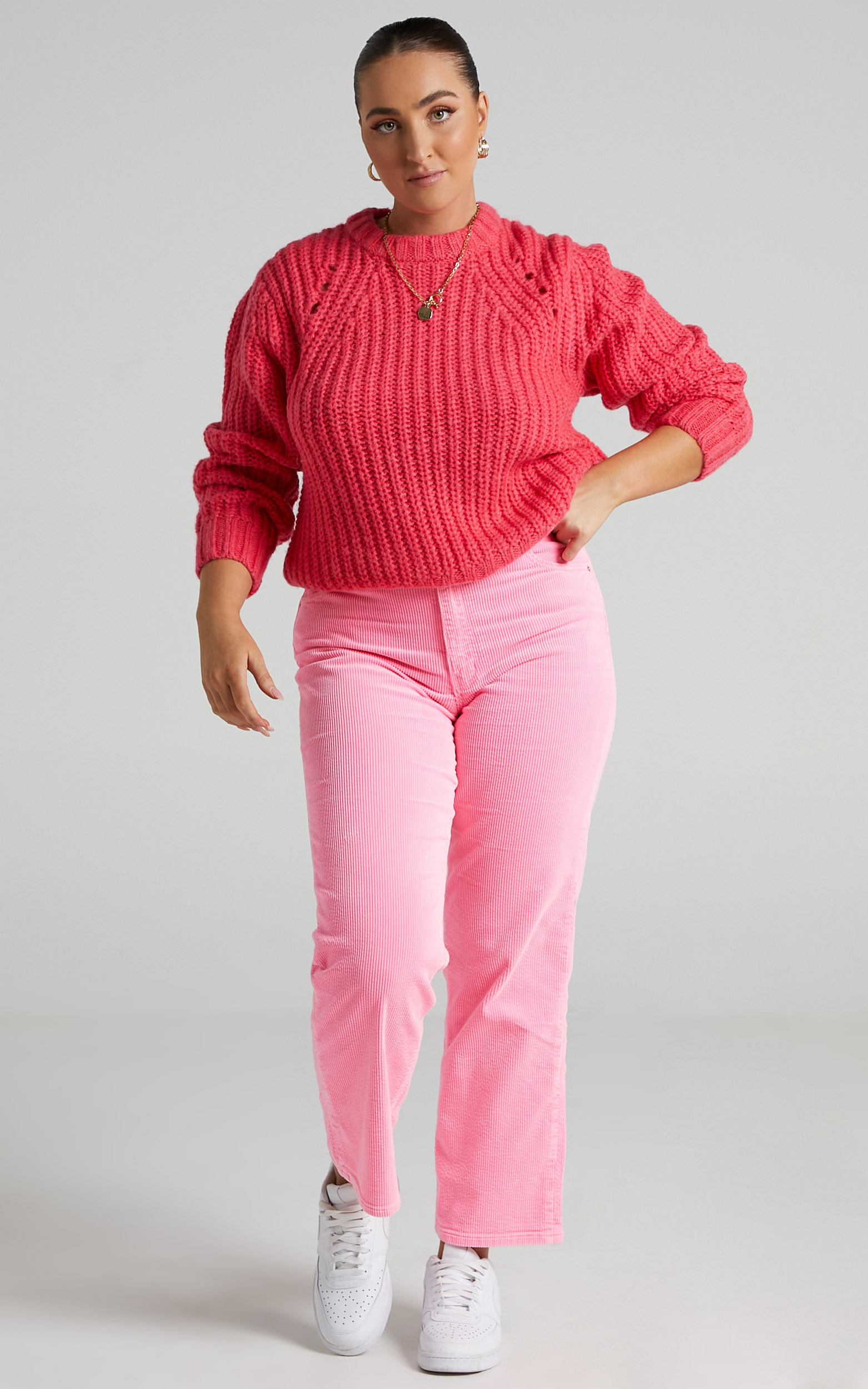 Rollas - Captain Sweater in Pink Cordial - 06, PNK1, hi-res image number null