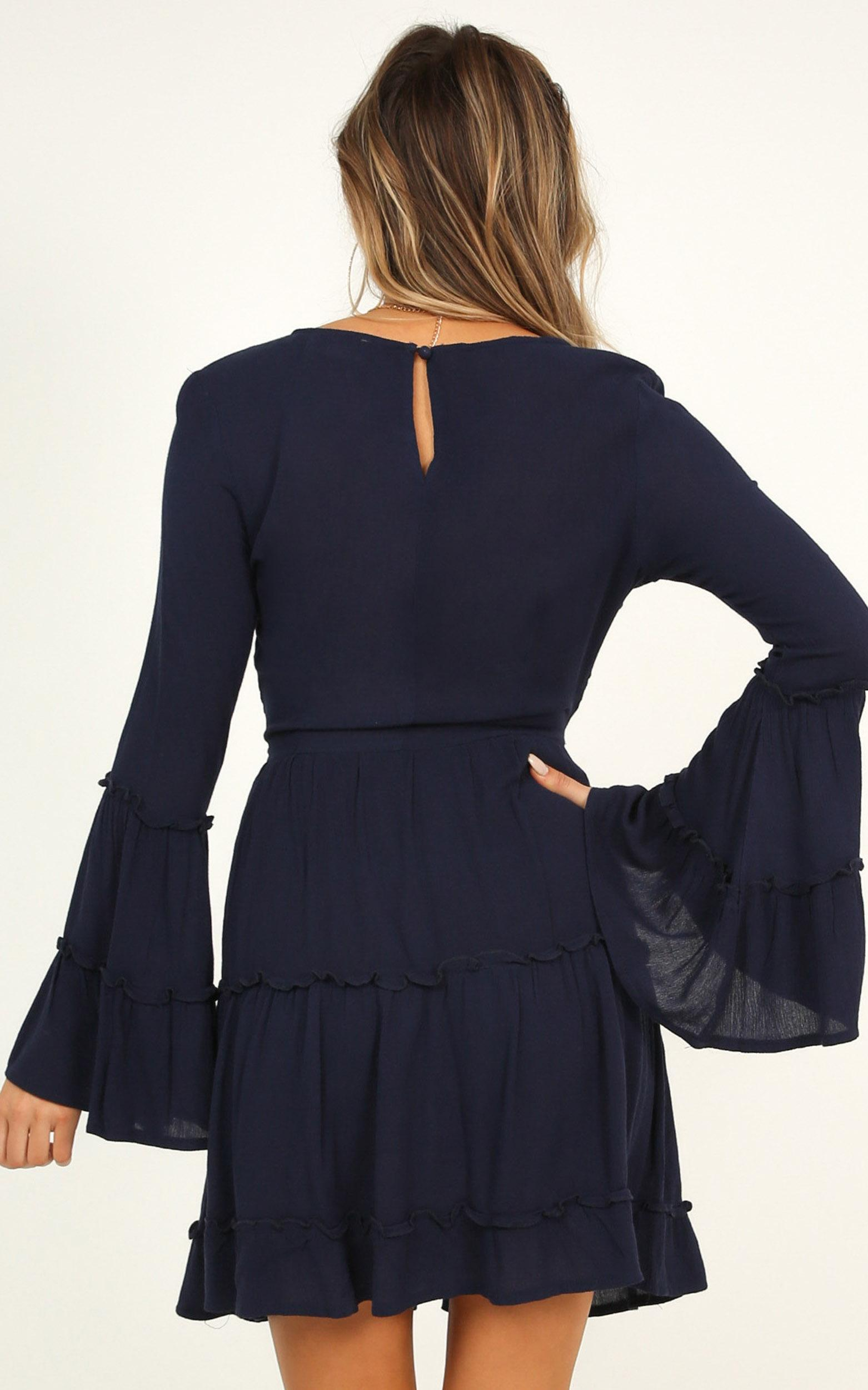 Ask Me Later Dress In Navy - 12 (L), Navy, hi-res image number null