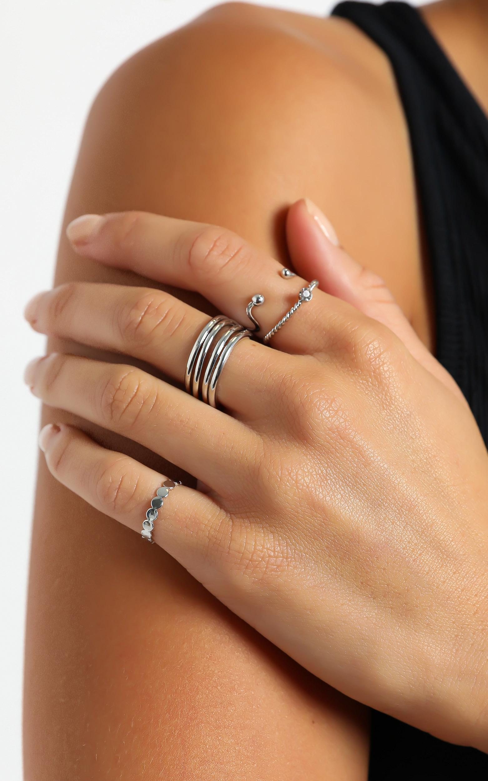 Multi Ring Set in Silver, , hi-res image number null