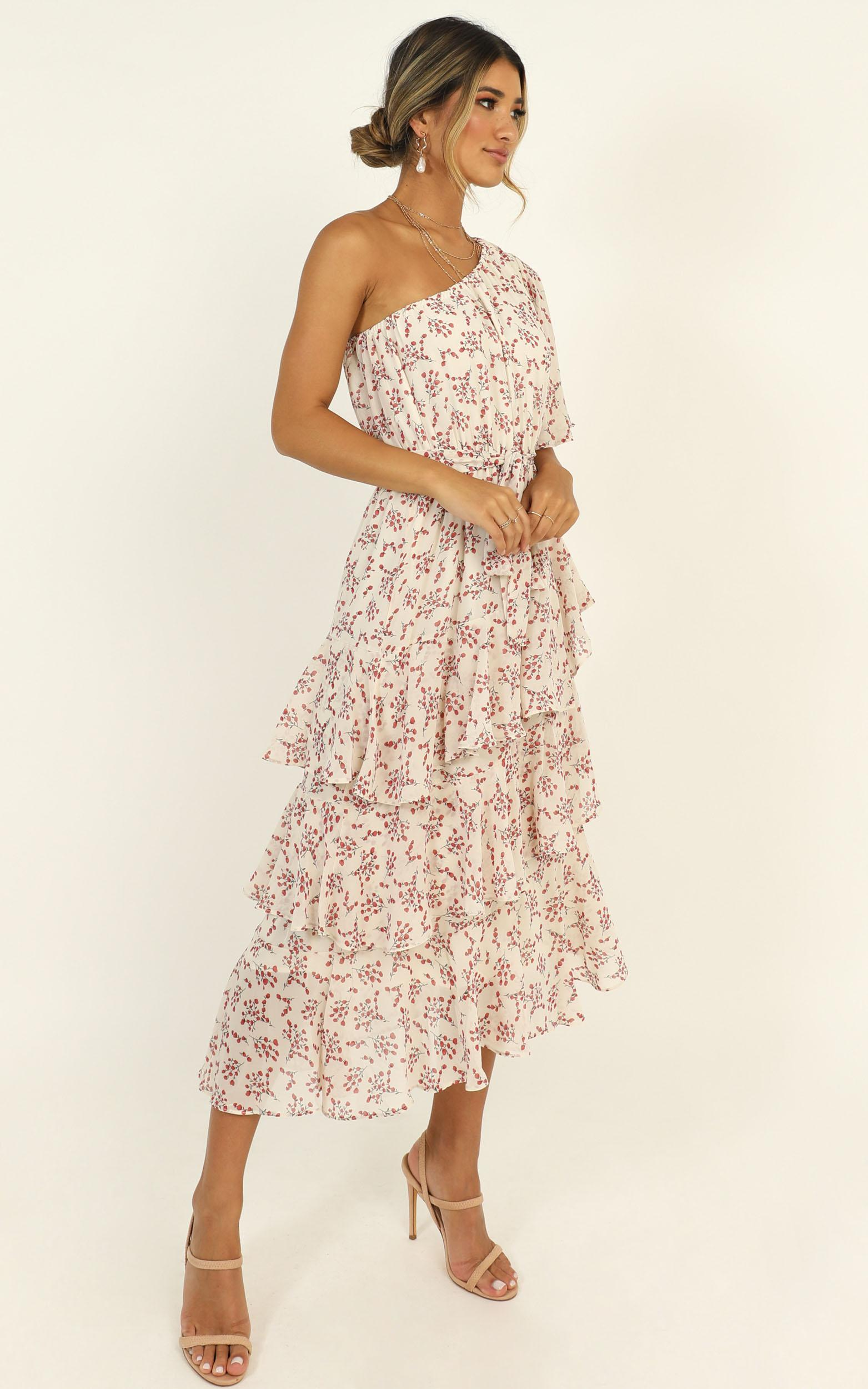 Taking Time Dress In cream floral - 14 (XL), Cream, hi-res image number null
