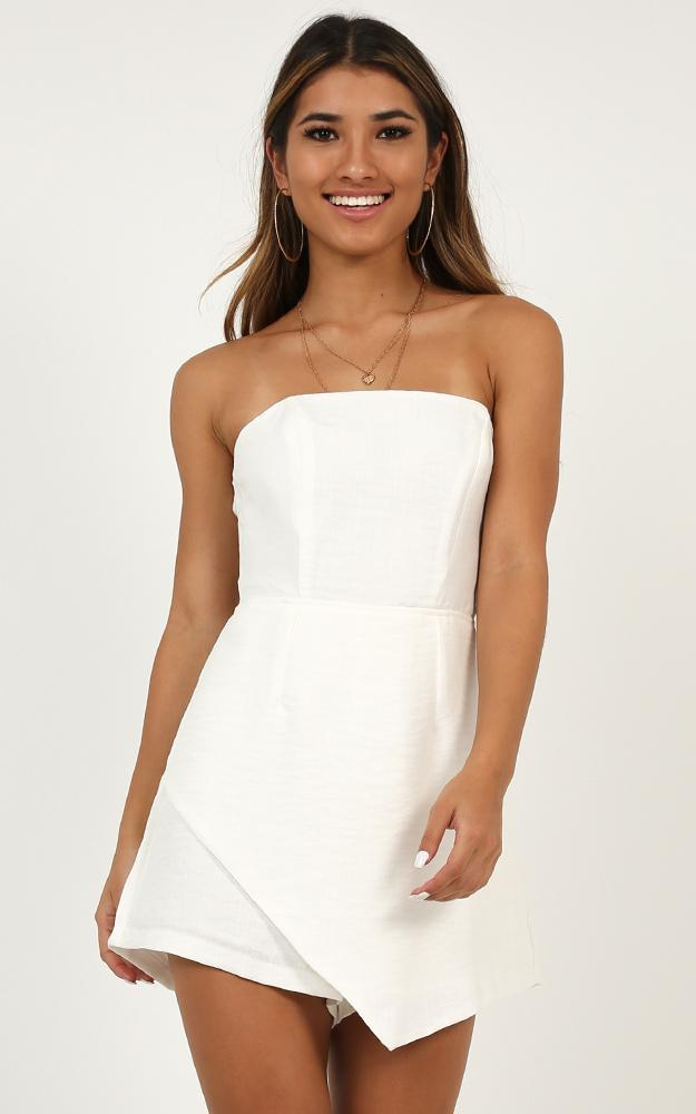 High Card playsuit in white - 12 (L), White, hi-res image number null