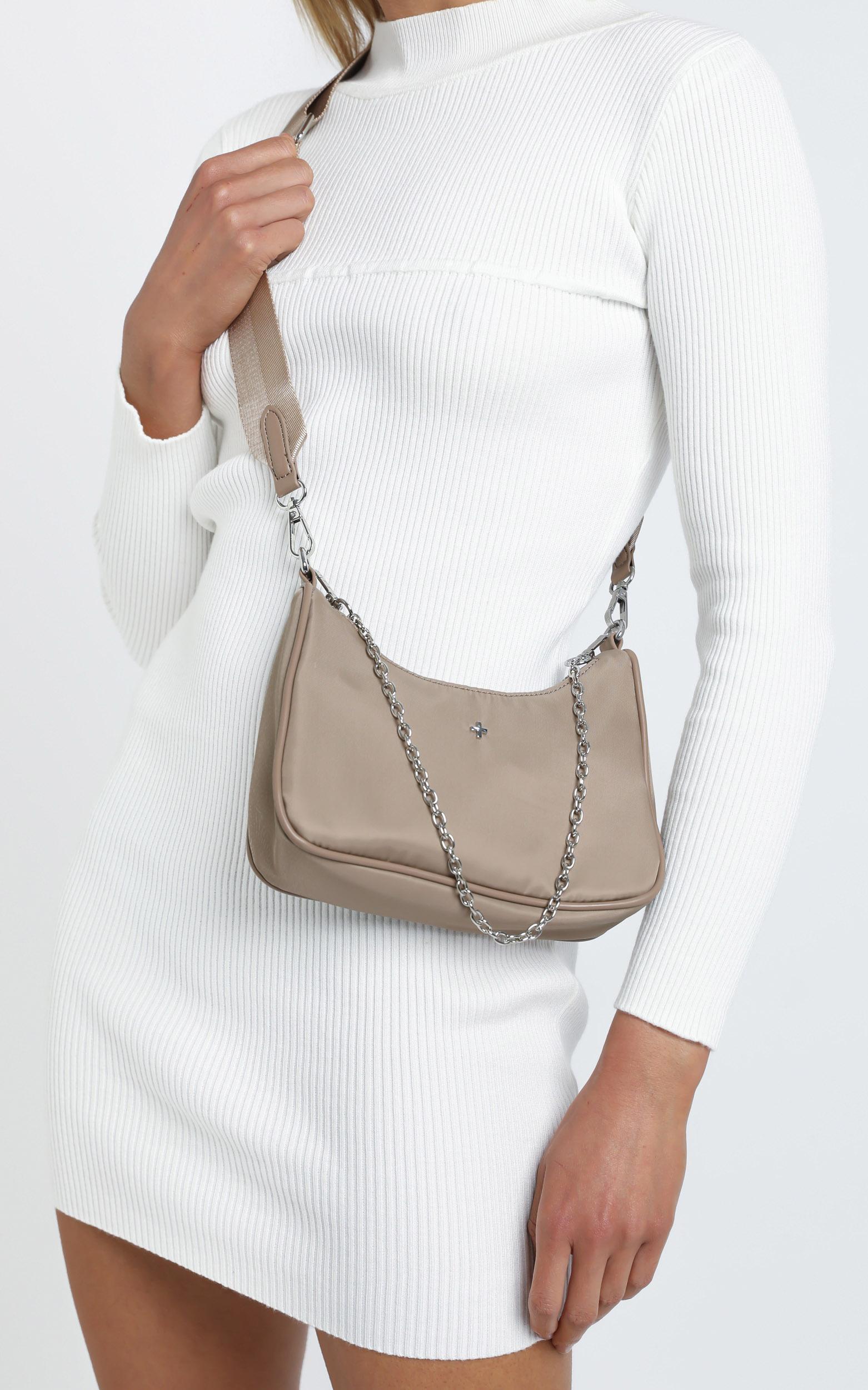 Peta and Jain - Paloma Bag in Cappuccino Nylon, Tan, hi-res image number null