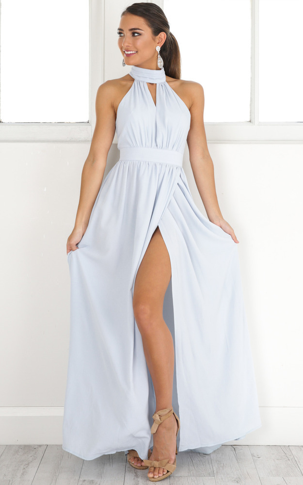 Twilight Star maxi dress in pale blue - 4 (XXS), Blue, hi-res image number null
