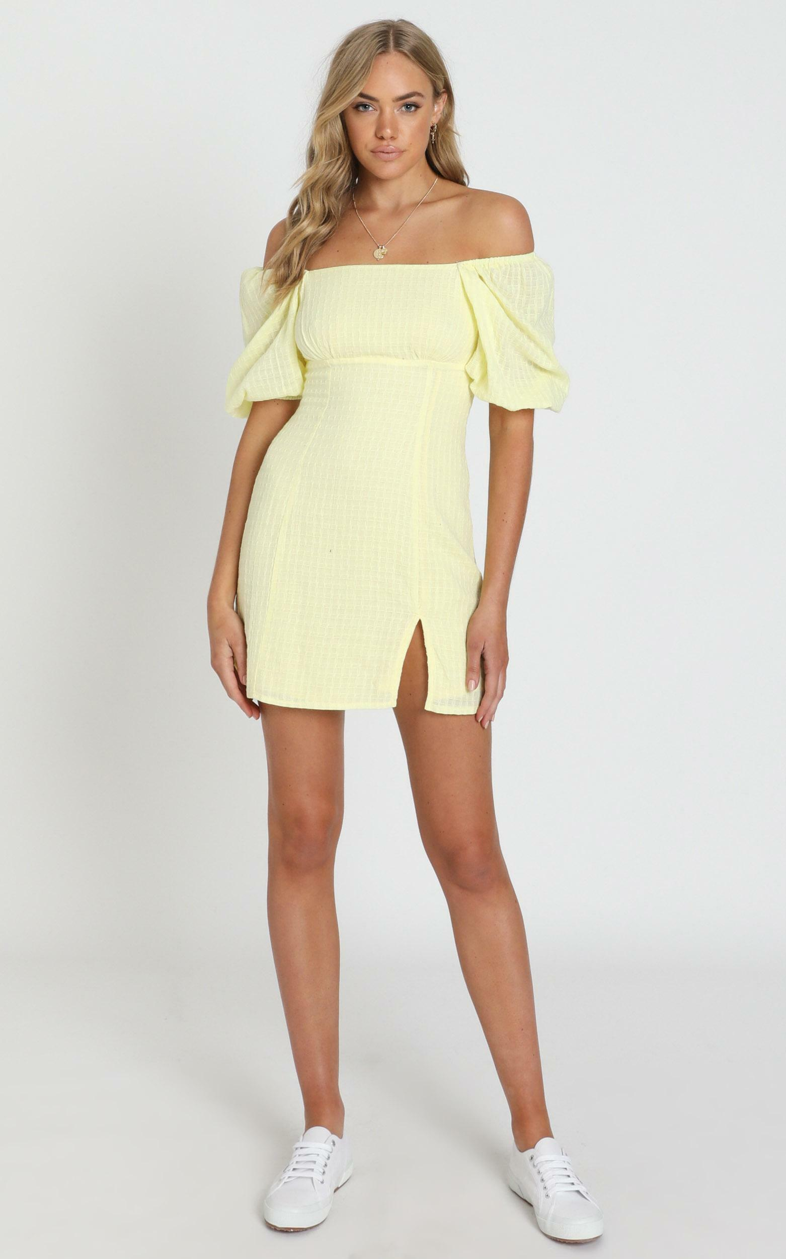 Electric Babe Dress in lemon - 16 (XXL), Yellow, hi-res image number null