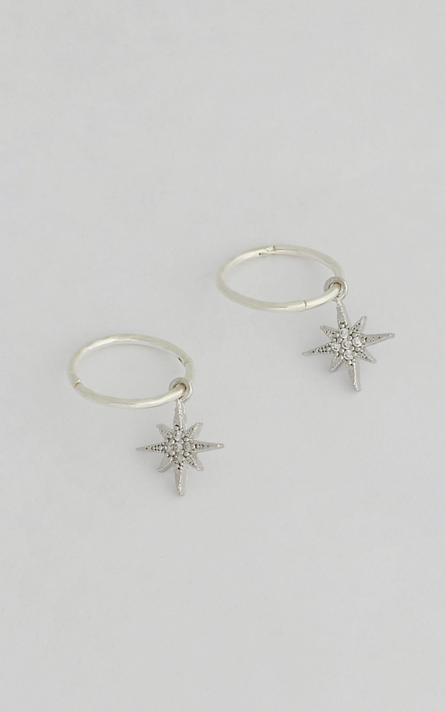 SAINT VALENTINE - NORTH STAR MINI HOOPS in Silver - NoSize, SLV2, hi-res image number null