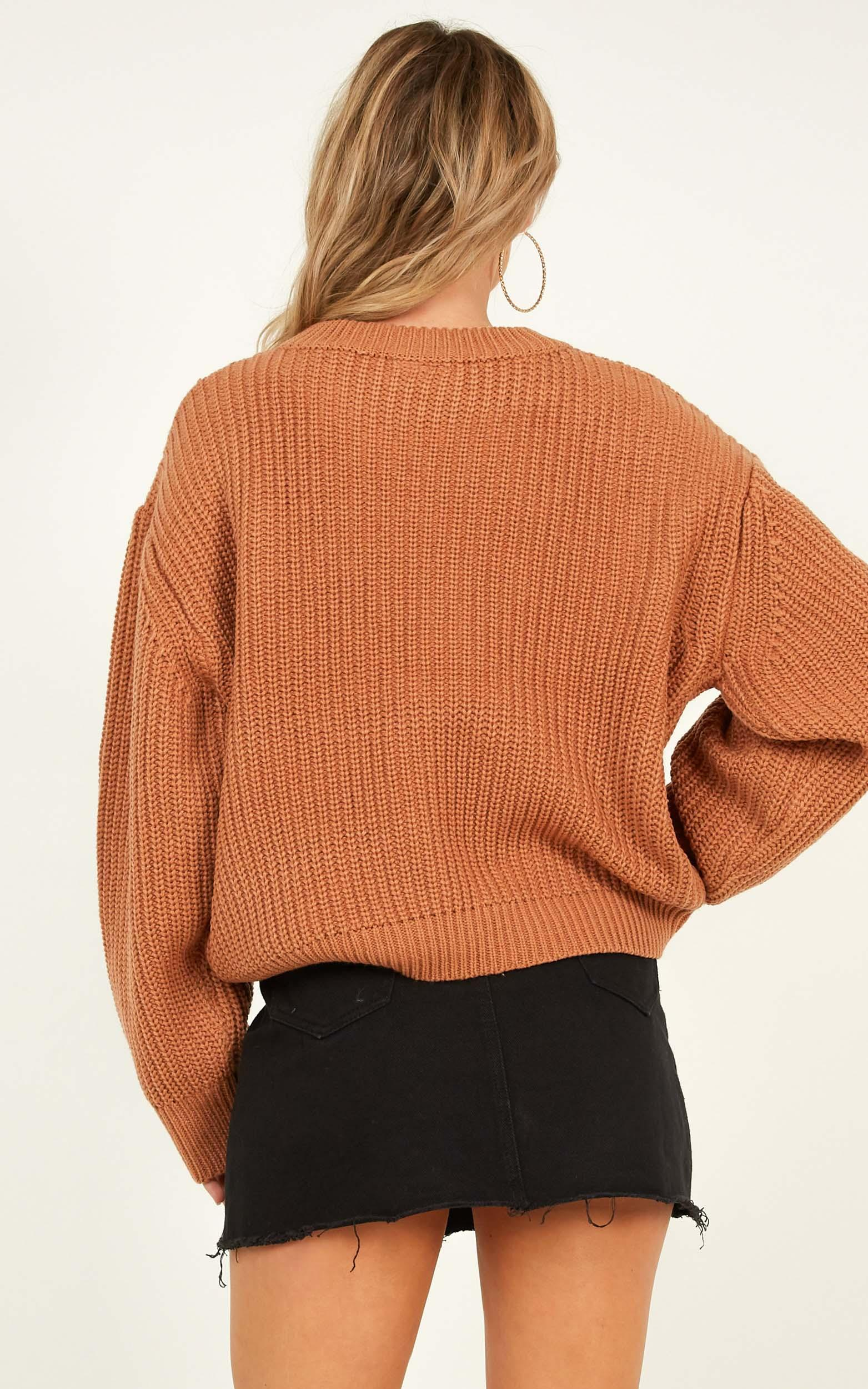 Fleeting Moments Knit Jumper in camel - 12 (L), Camel, hi-res image number null