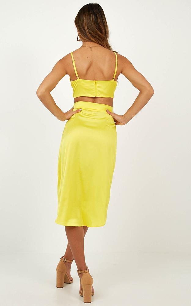 It's the Holidays Two Set Piece in Yellow satin - 14 (XL), Yellow, hi-res image number null