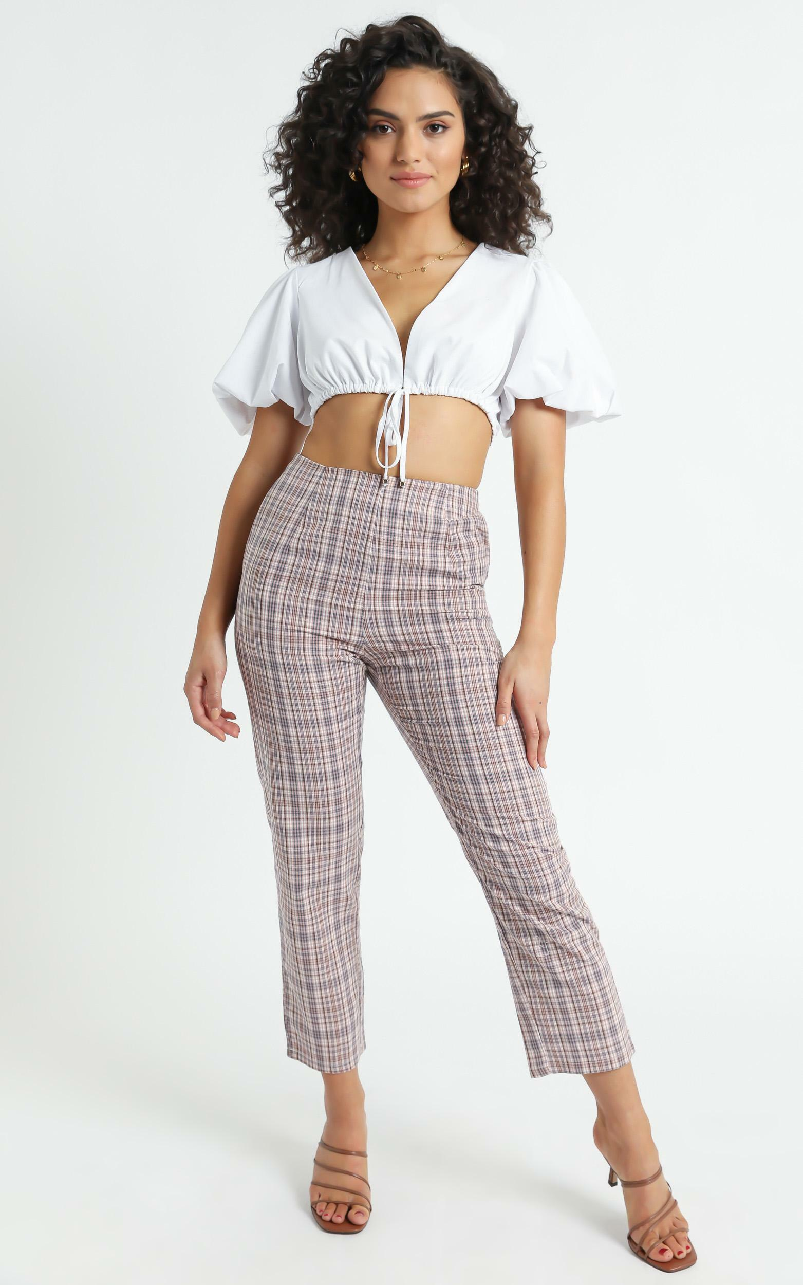 Danior Pants in Pink Check - 6 (XS), Pink, hi-res image number null
