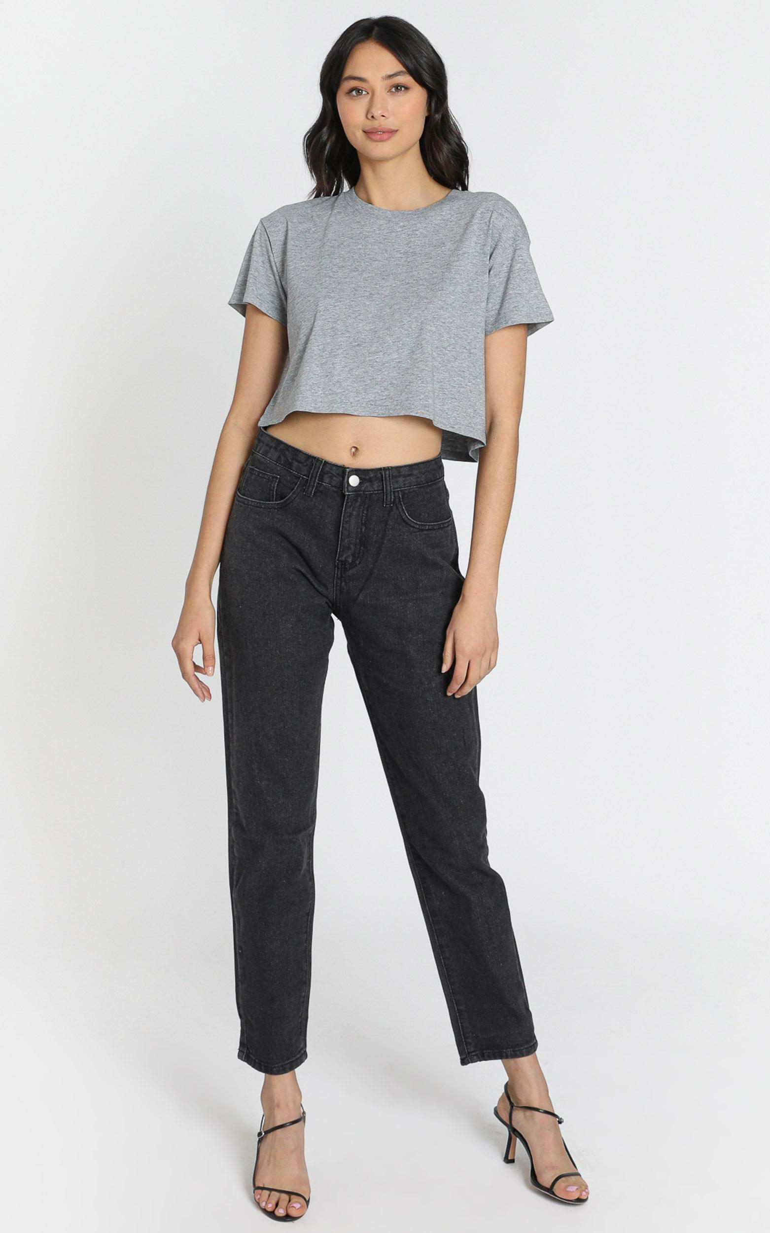 Back it up MOM jeans Charcoal - 6 (XS), Charcoal, hi-res image number null