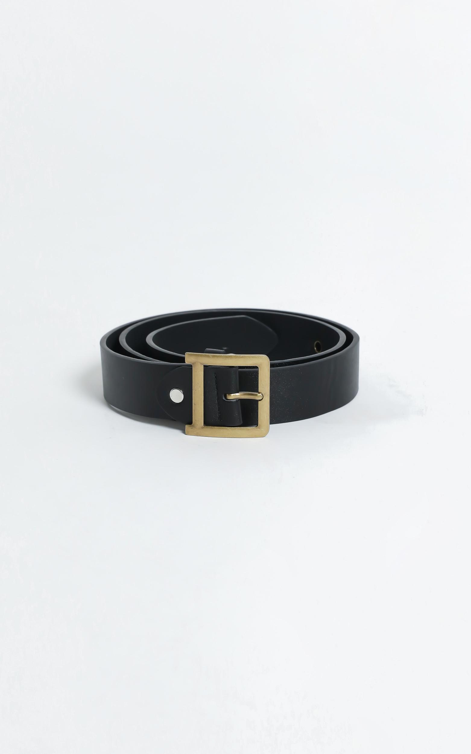 Stay Cool Belt in Black/Gold, BLK1, hi-res image number null