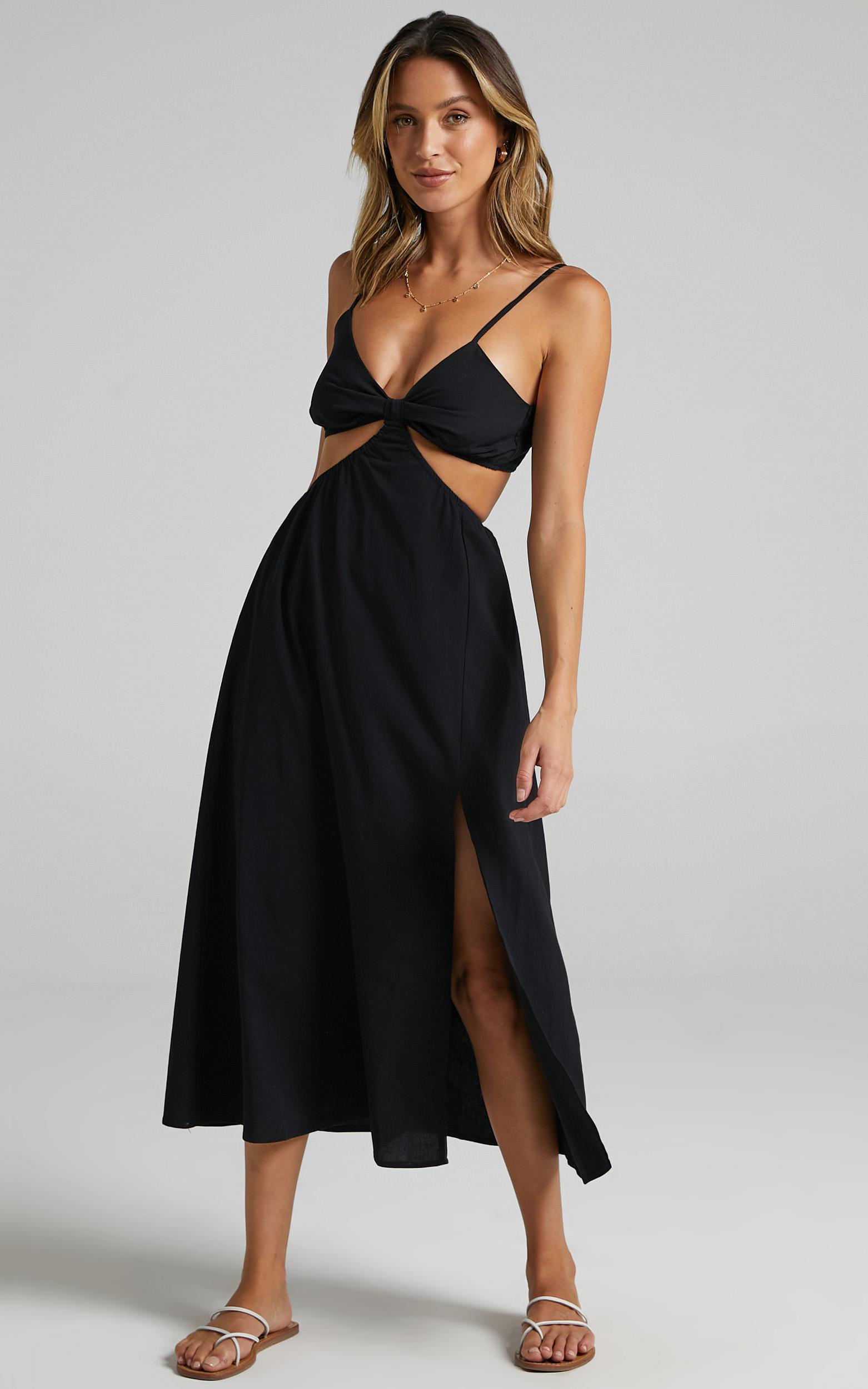Melyssa Dress in Black - 6 (XS), Black, hi-res image number null