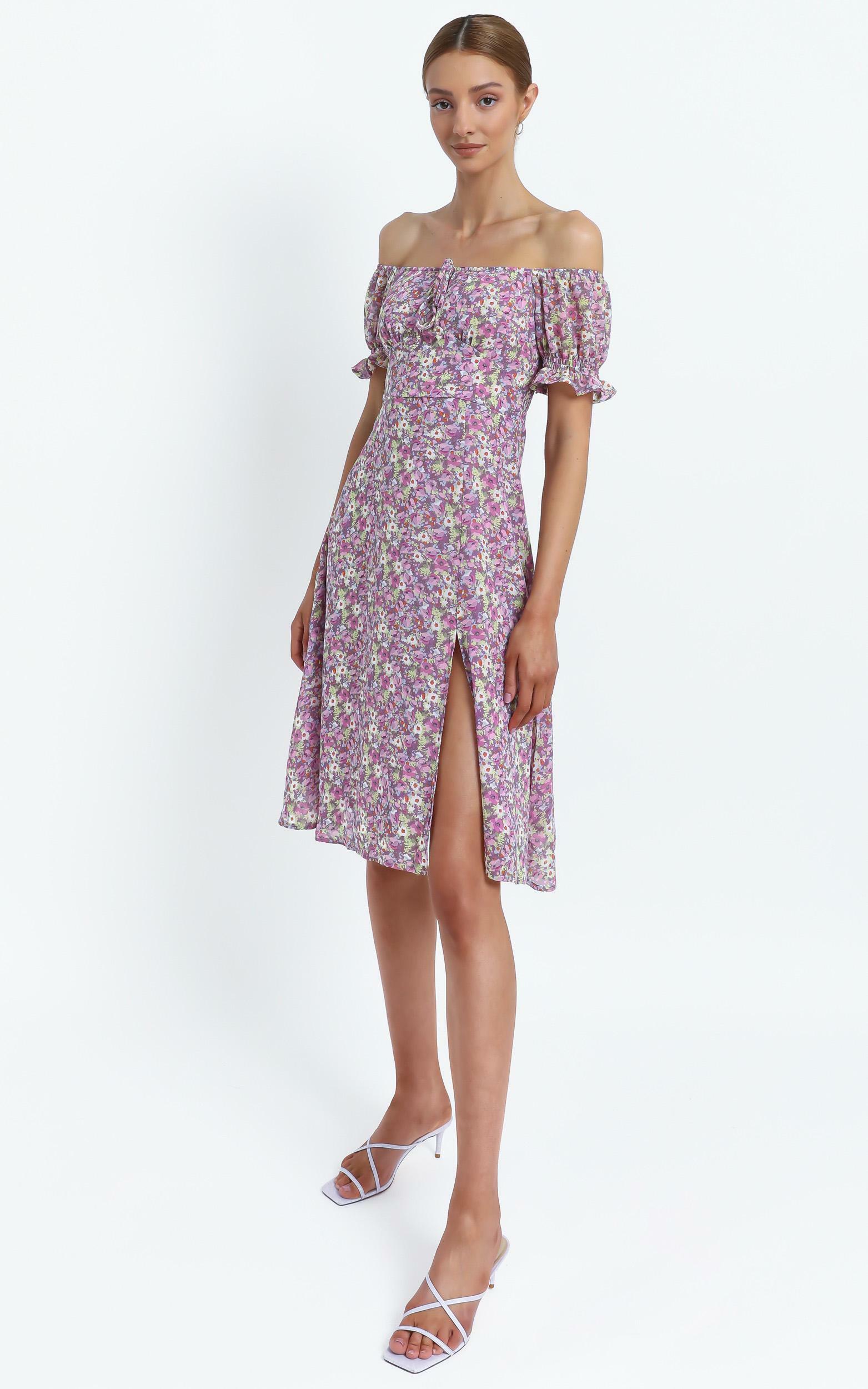 Starley Dress in Pink Floral - 8 (S), Pink, hi-res image number null