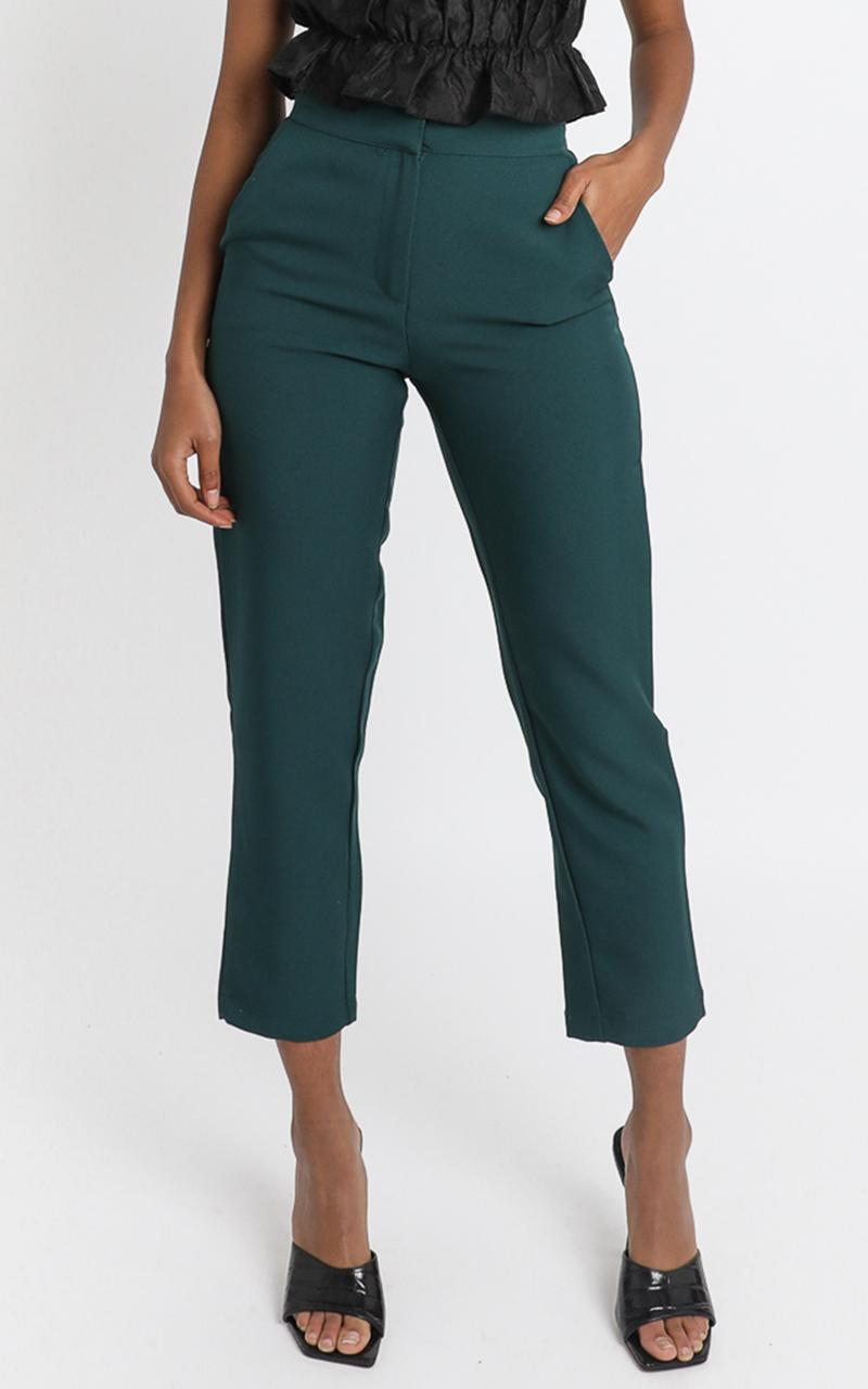 Gabrielle Pants in Emerald - 6 (XS), Green, hi-res image number null