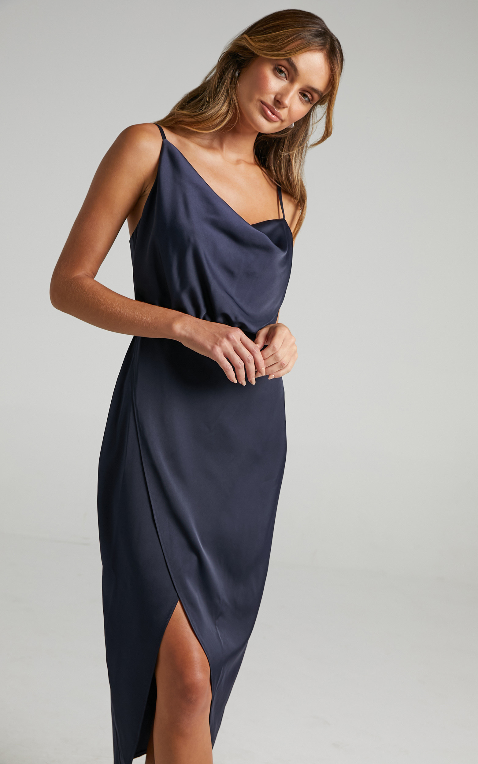 Sisters by Heart Dress in Navy Satin - 06, NVY2, hi-res image number null