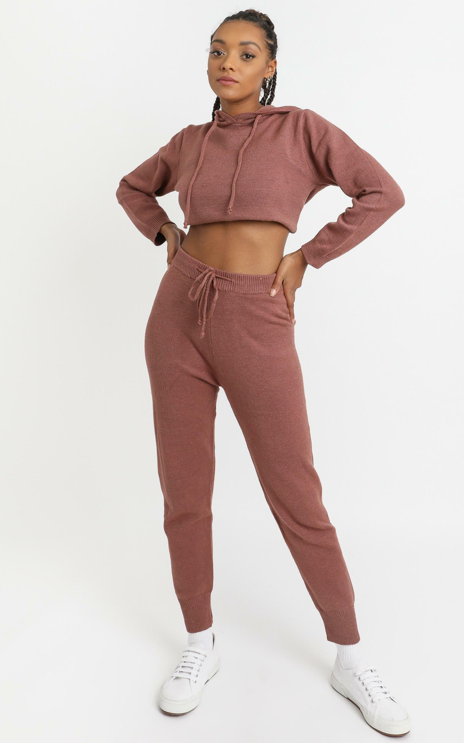 Imogen Knit Joggers in Rust - 8 (S), Rust, hi-res image number null