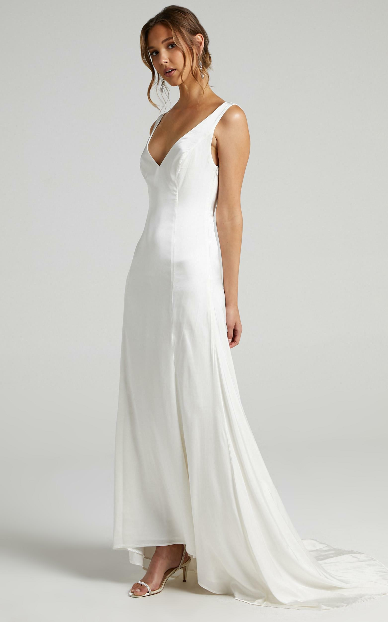Deeply In Love Silk Gown In Ivory - 6 (XS), WHT2, hi-res image number null