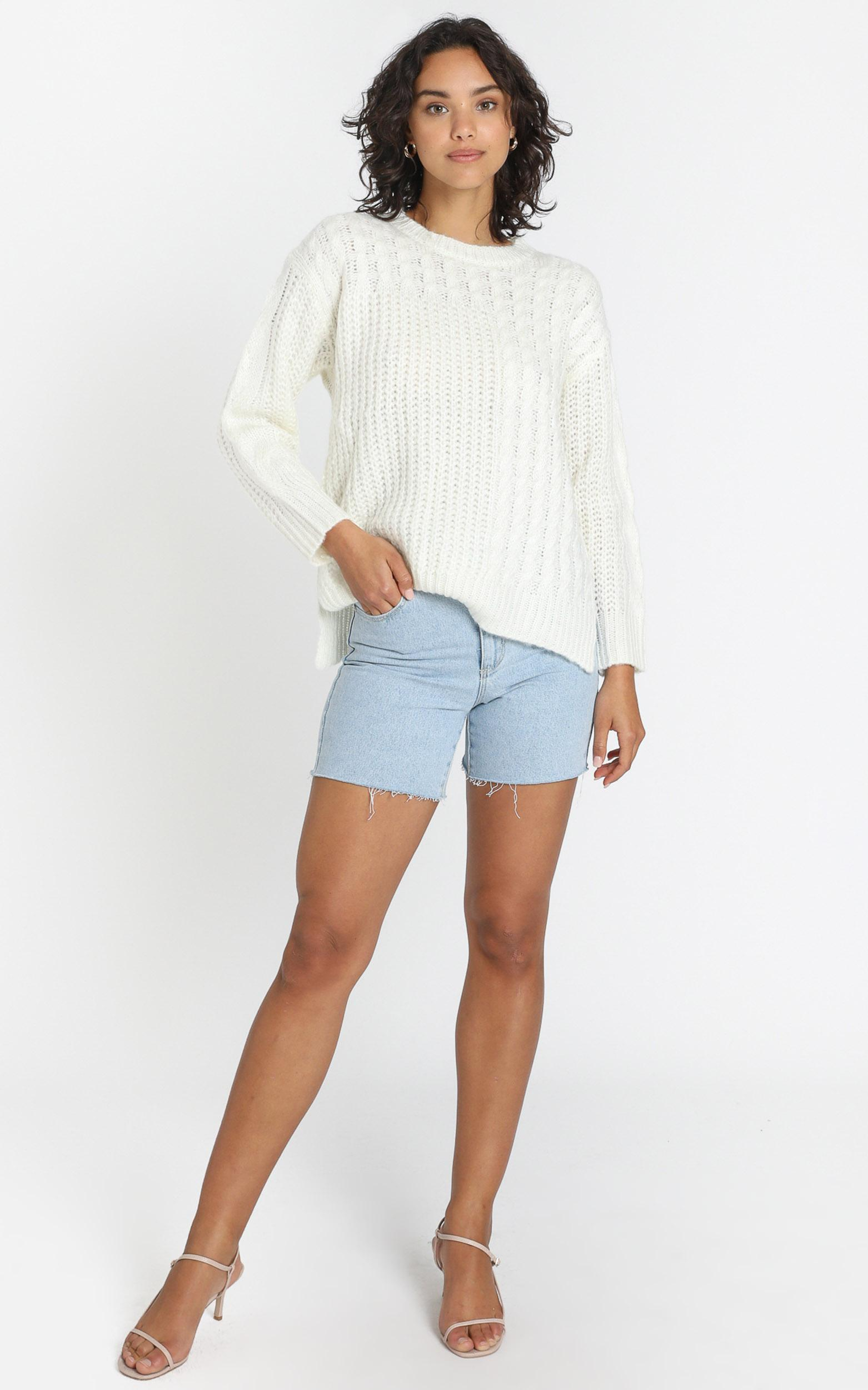 Haley Jumper in White - S/M, White, hi-res image number null
