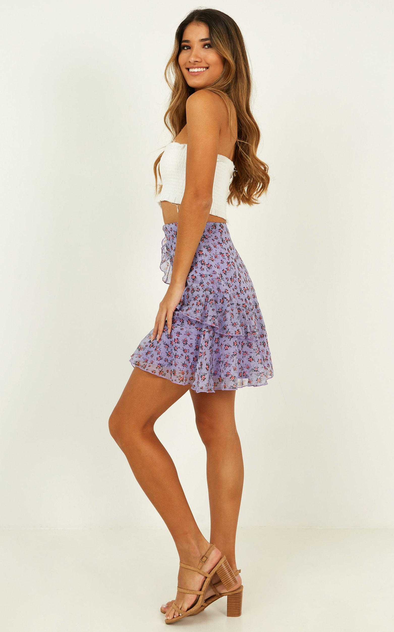 All So Crazy Skirt In lilac floral - 14 (XL), Mauve, hi-res image number null