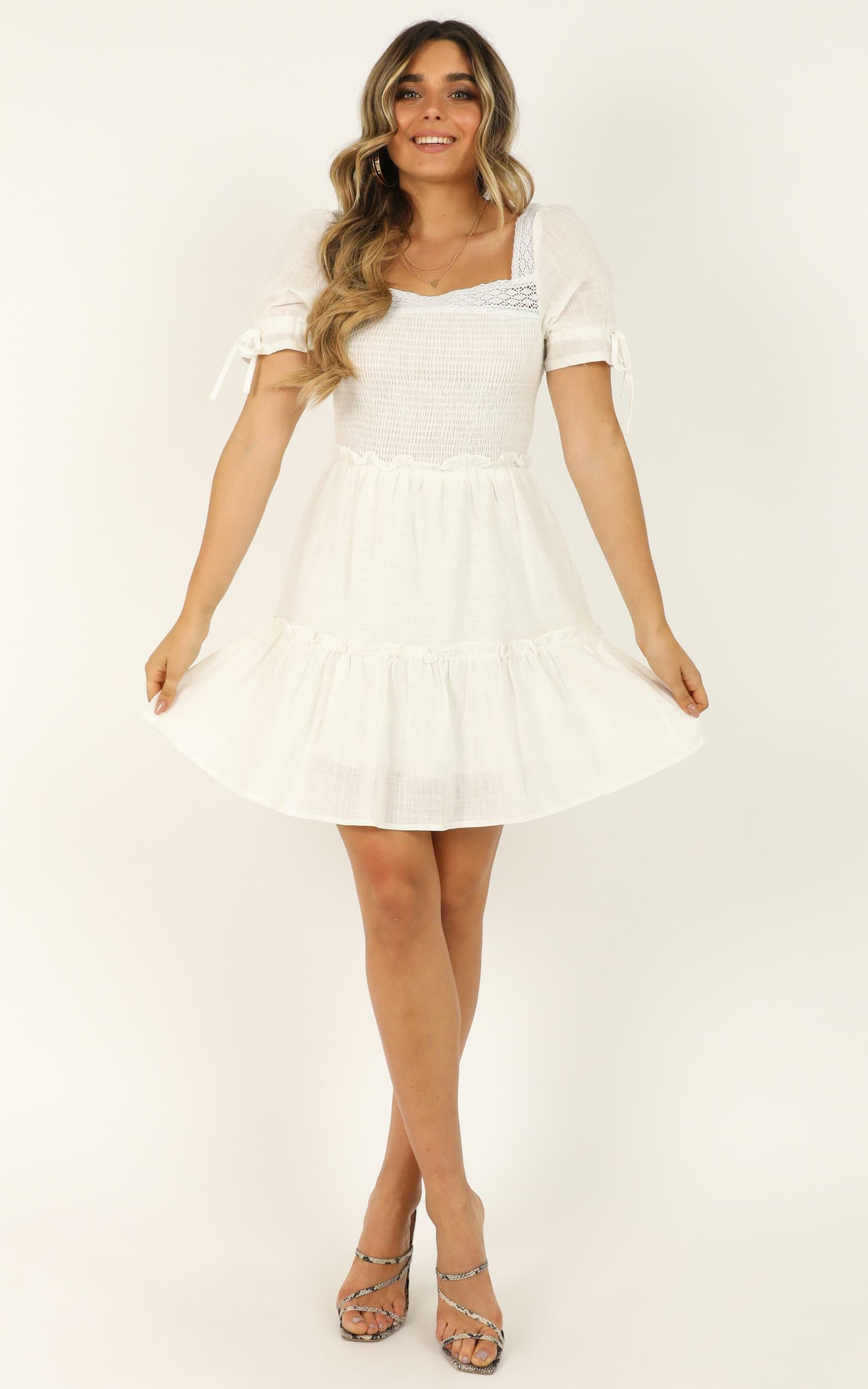Stay Dedicated dress in white - 12 (L), White, hi-res image number null