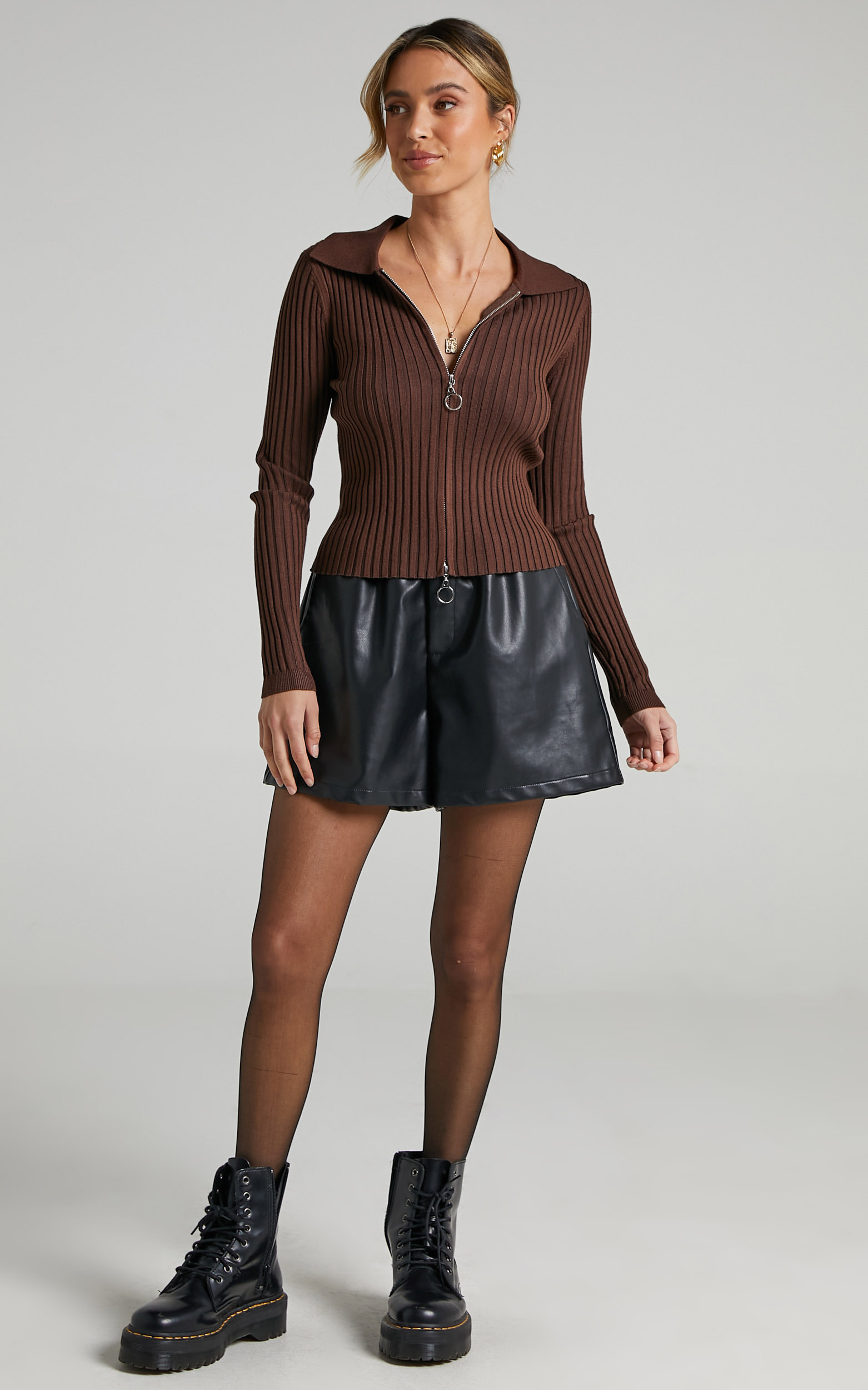 Tosia Cardigan in Chocolate - 06, BRN2, hi-res image number null