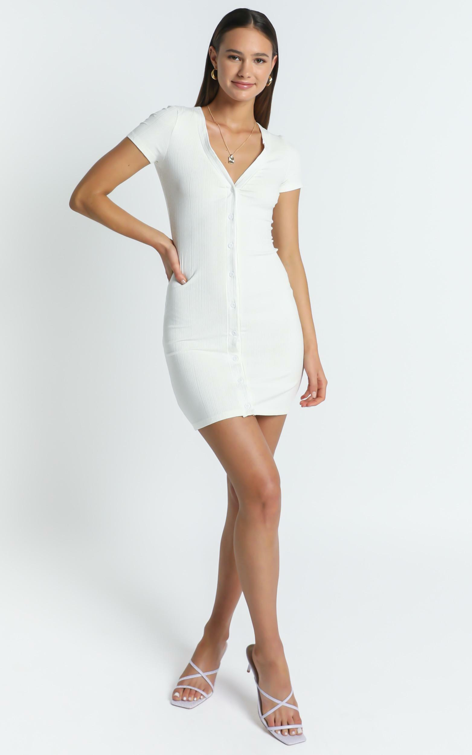 Missouri Dress in White - 6 (XS), White, hi-res image number null