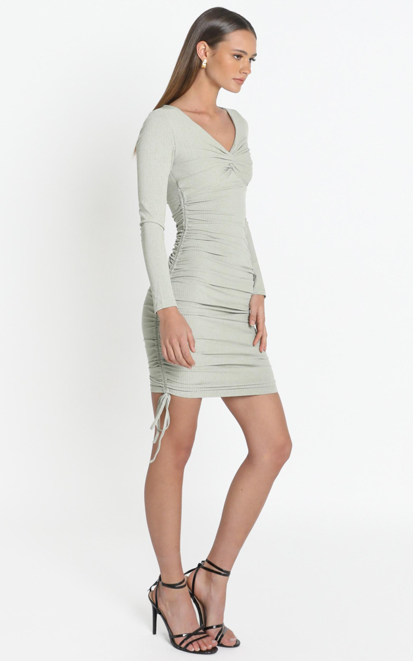 Naiya Dress in Khaki - 12 (L), Khaki, hi-res image number null