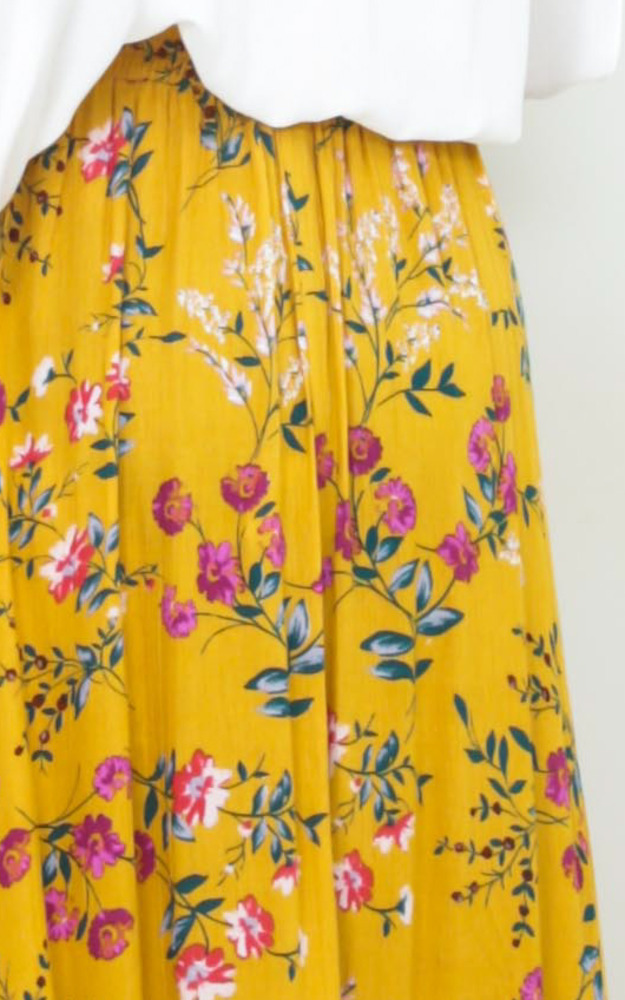 Flourish maxi skirt in yellow floral - 6 (XS), Multi, hi-res image number null