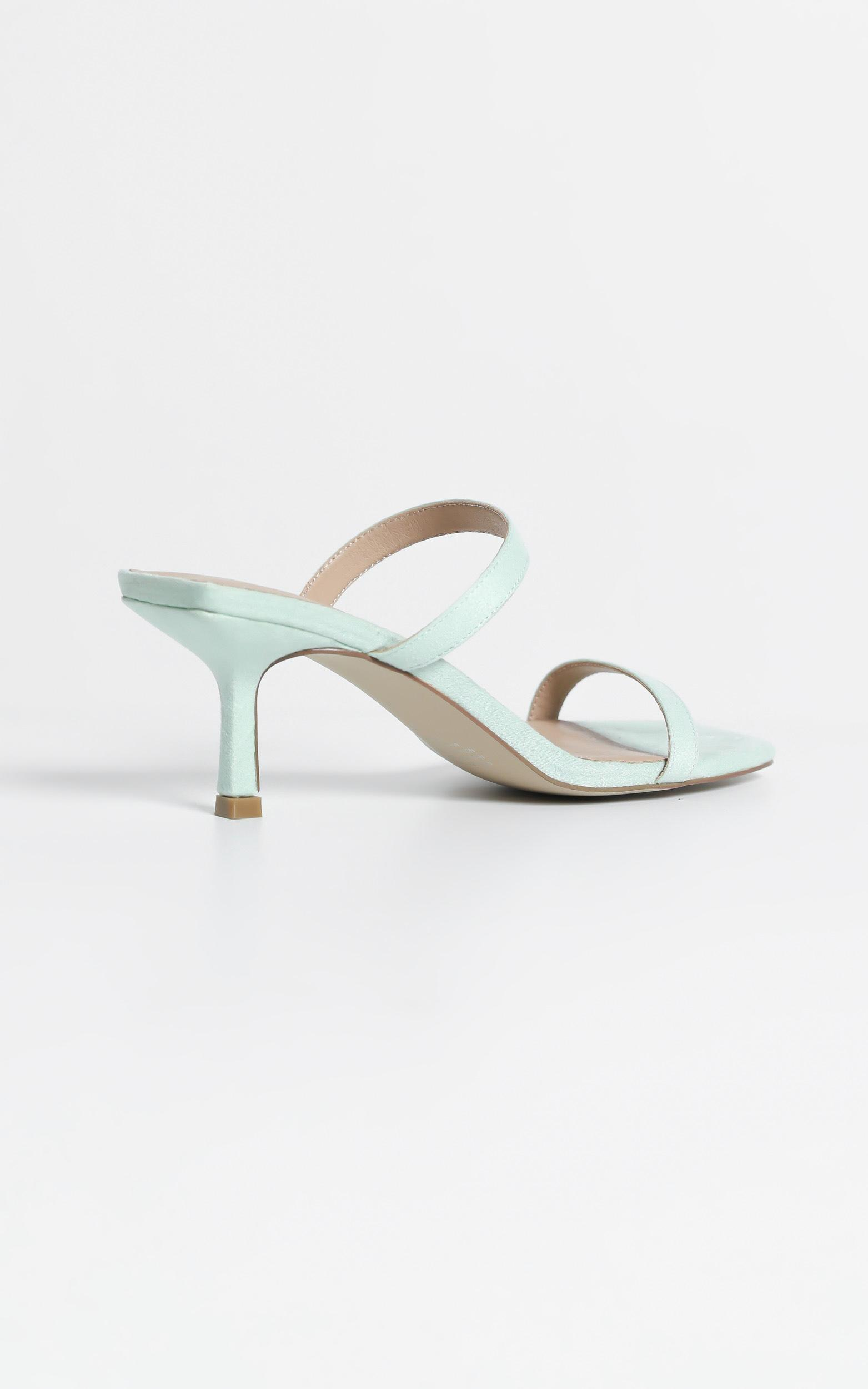 Therapy - Poppin Heels in Mint Suedette  - 5, GRN3, hi-res image number null