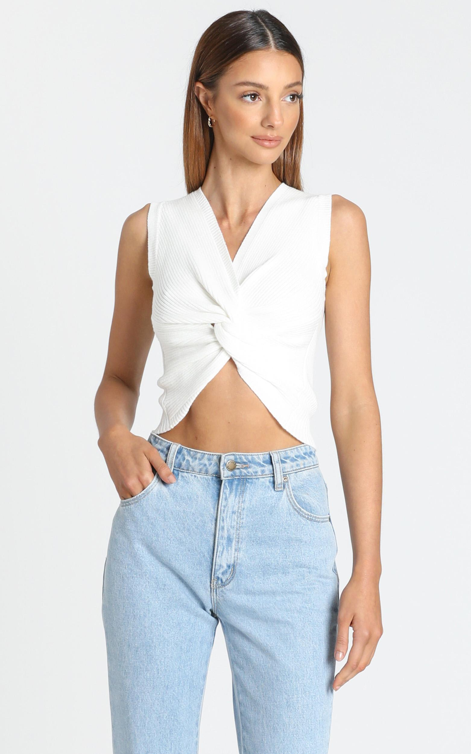 Kael Top in White - 6 (XS), White, hi-res image number null