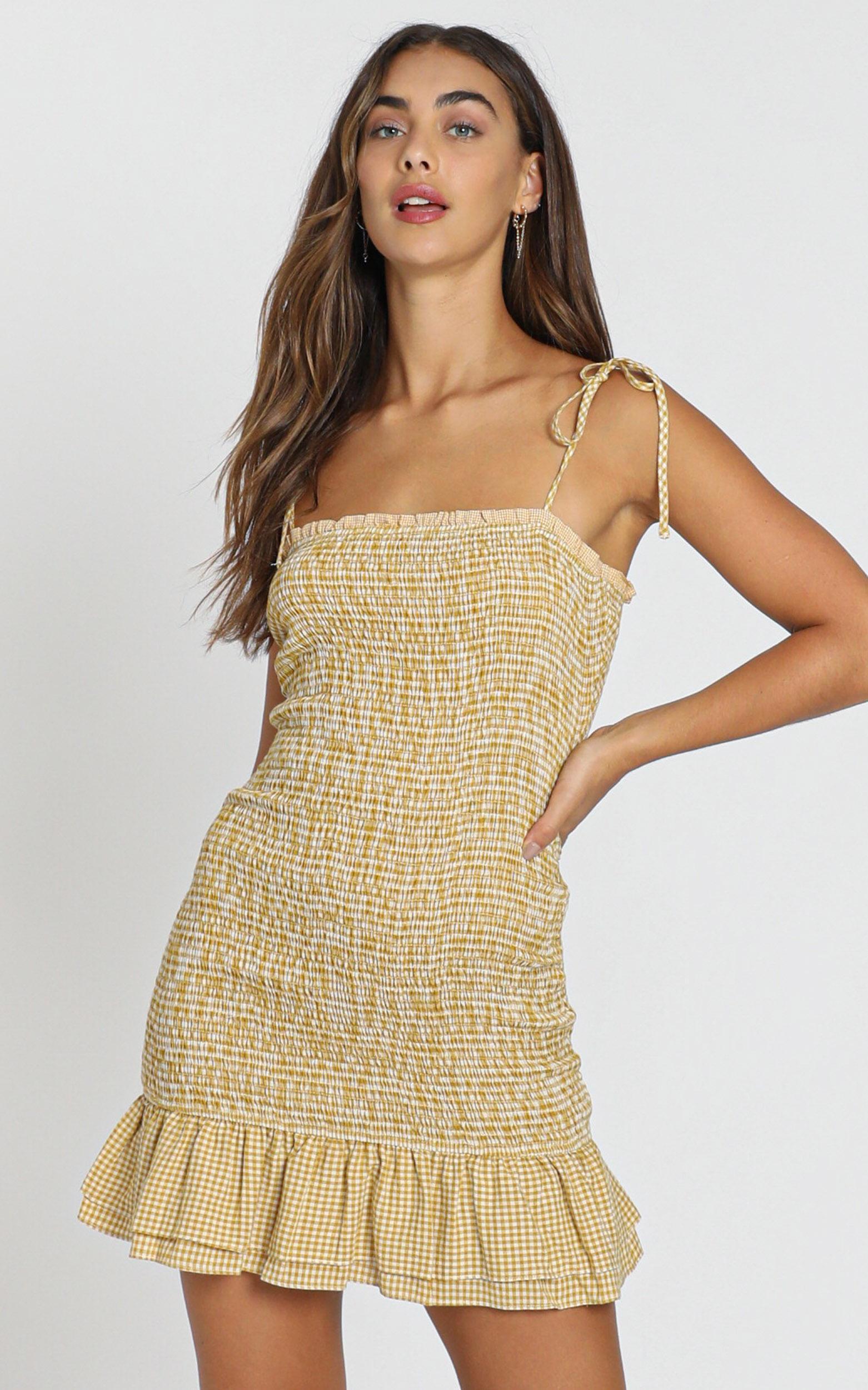 Diaz Dress in mustard - 8 (S), Mustard, hi-res image number null