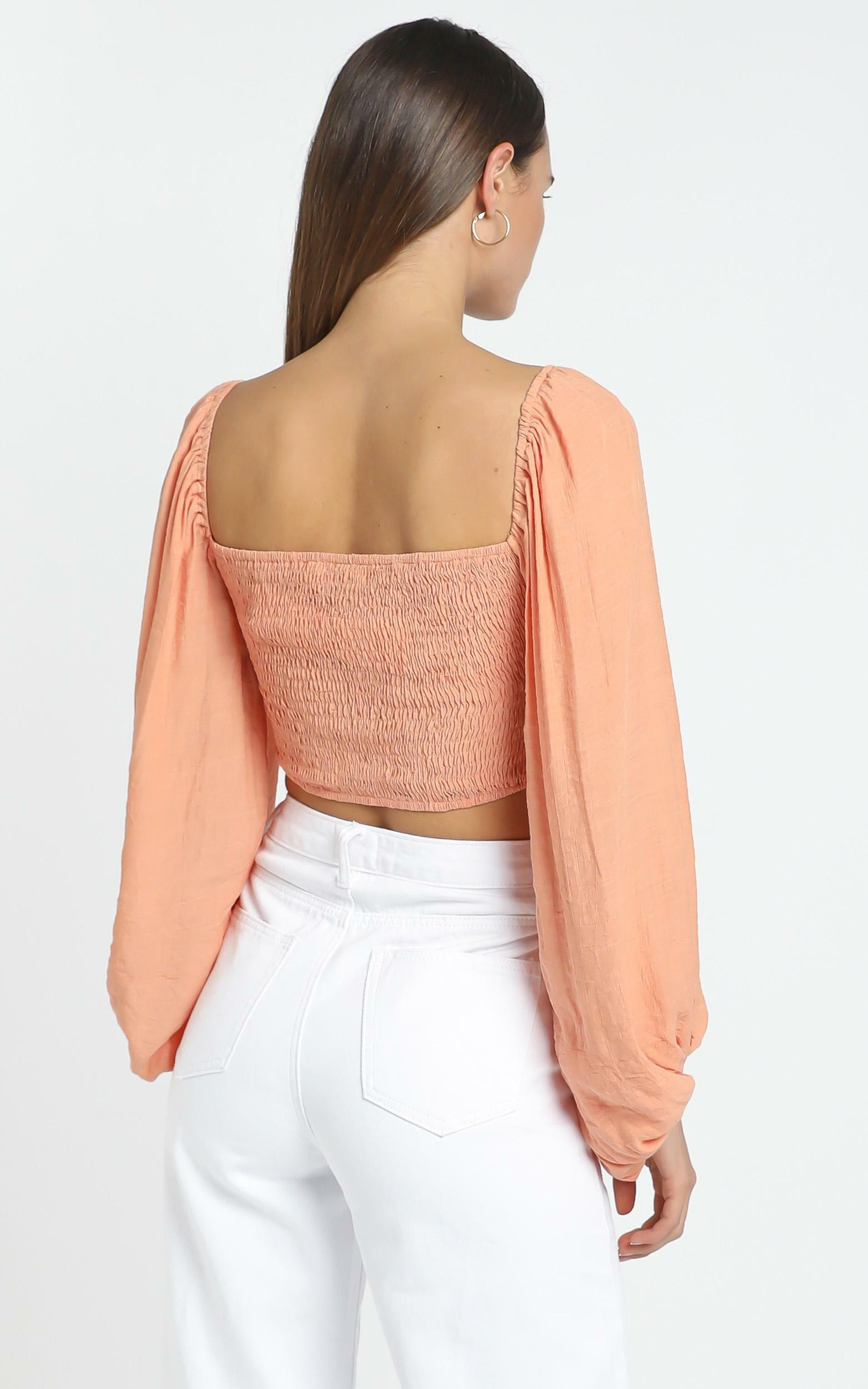 Ophelia Top in Terricotta - 12 (L), Orange, hi-res image number null