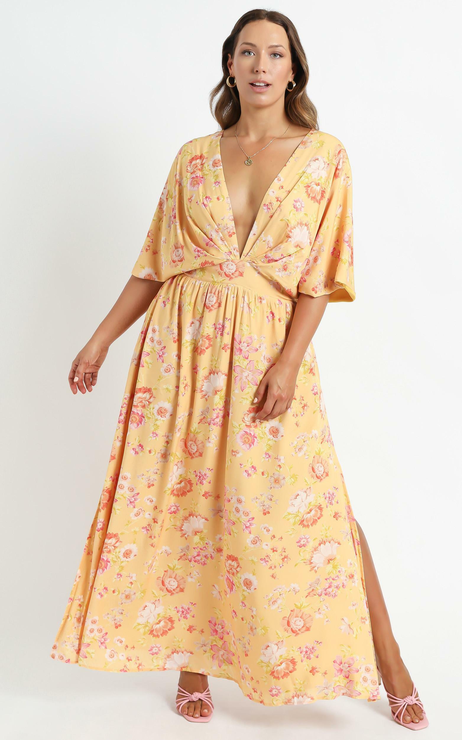 Ella Dress in Tuscan Spring - 4 (XXS), Orange, hi-res image number null