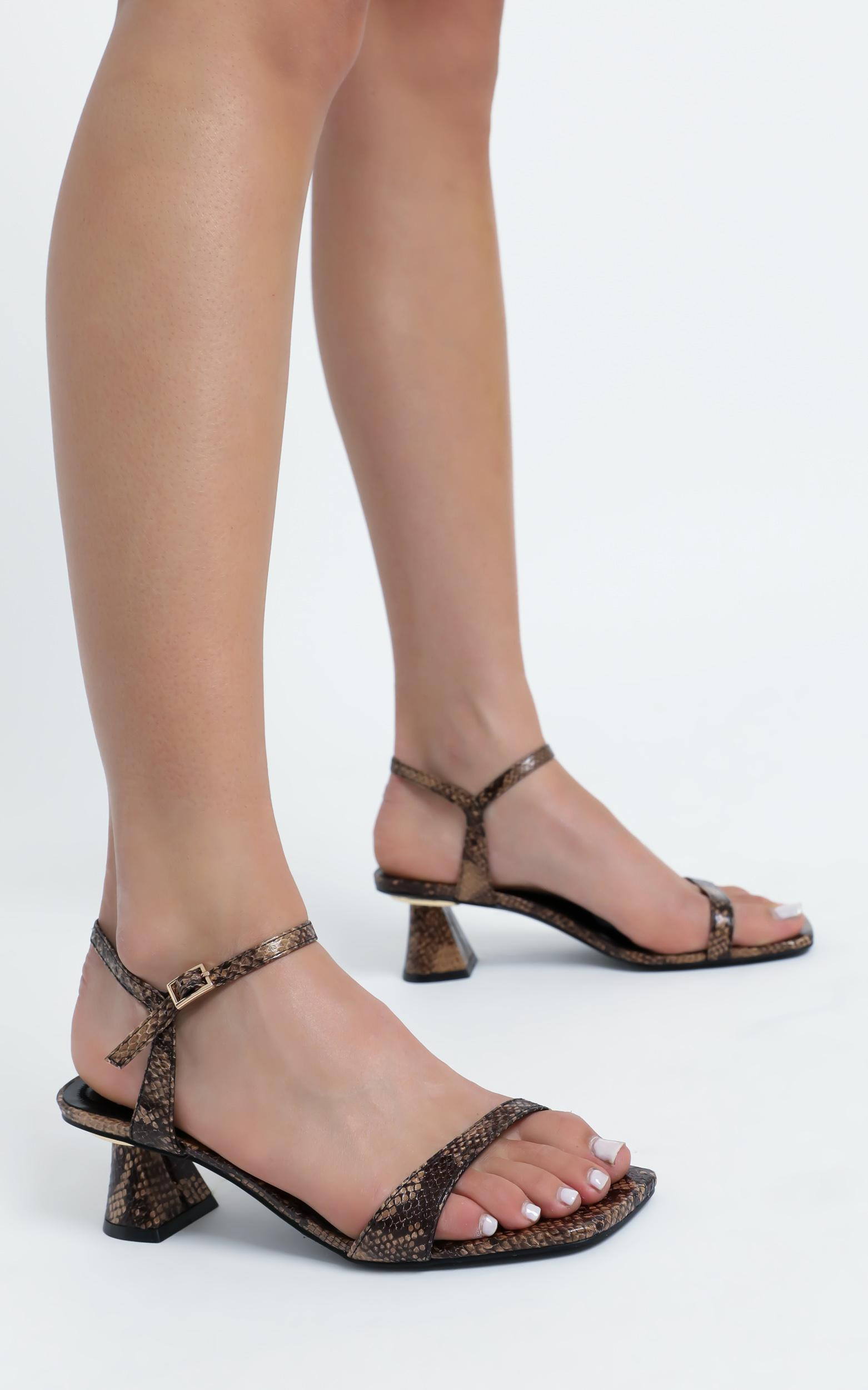 Therapy - Holly Heels in Snake Print - 5, Brown, hi-res image number null