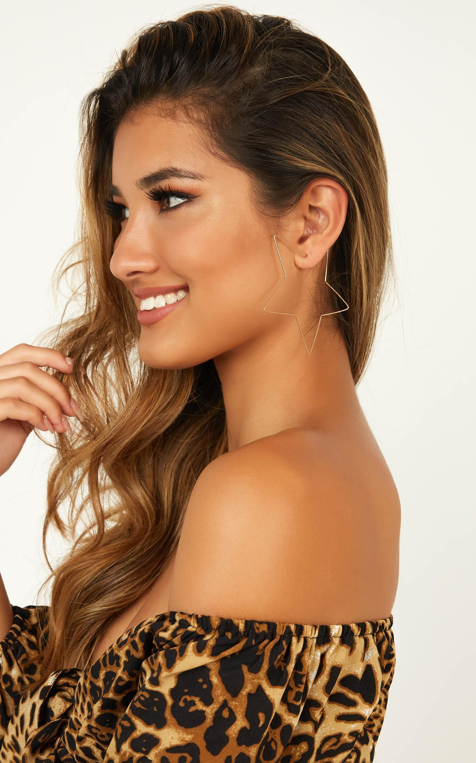 Where Abouts Earrings In Gold, , hi-res image number null