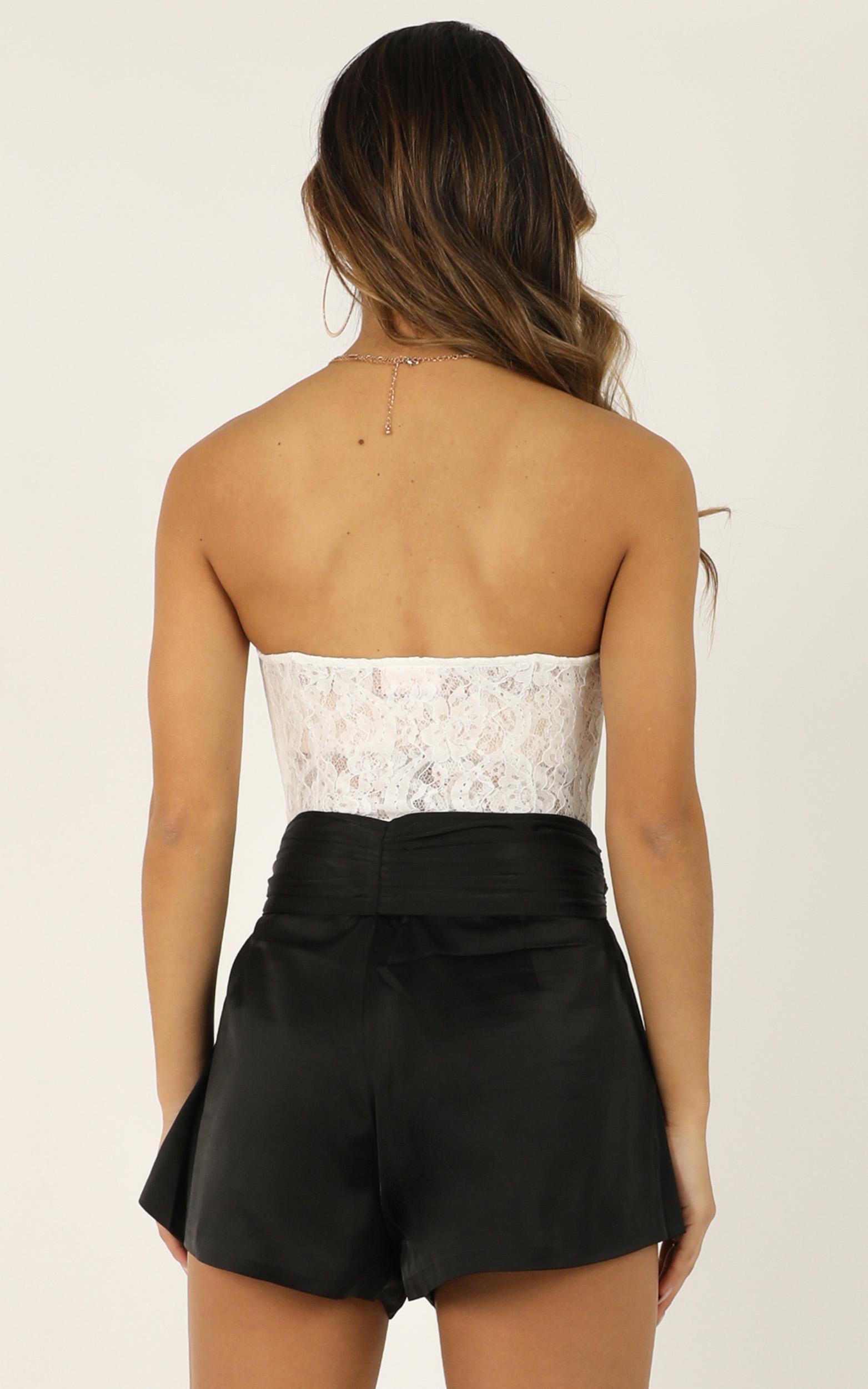 Staring Me Down Shorts In black satin - 14 (XL), Black, hi-res image number null