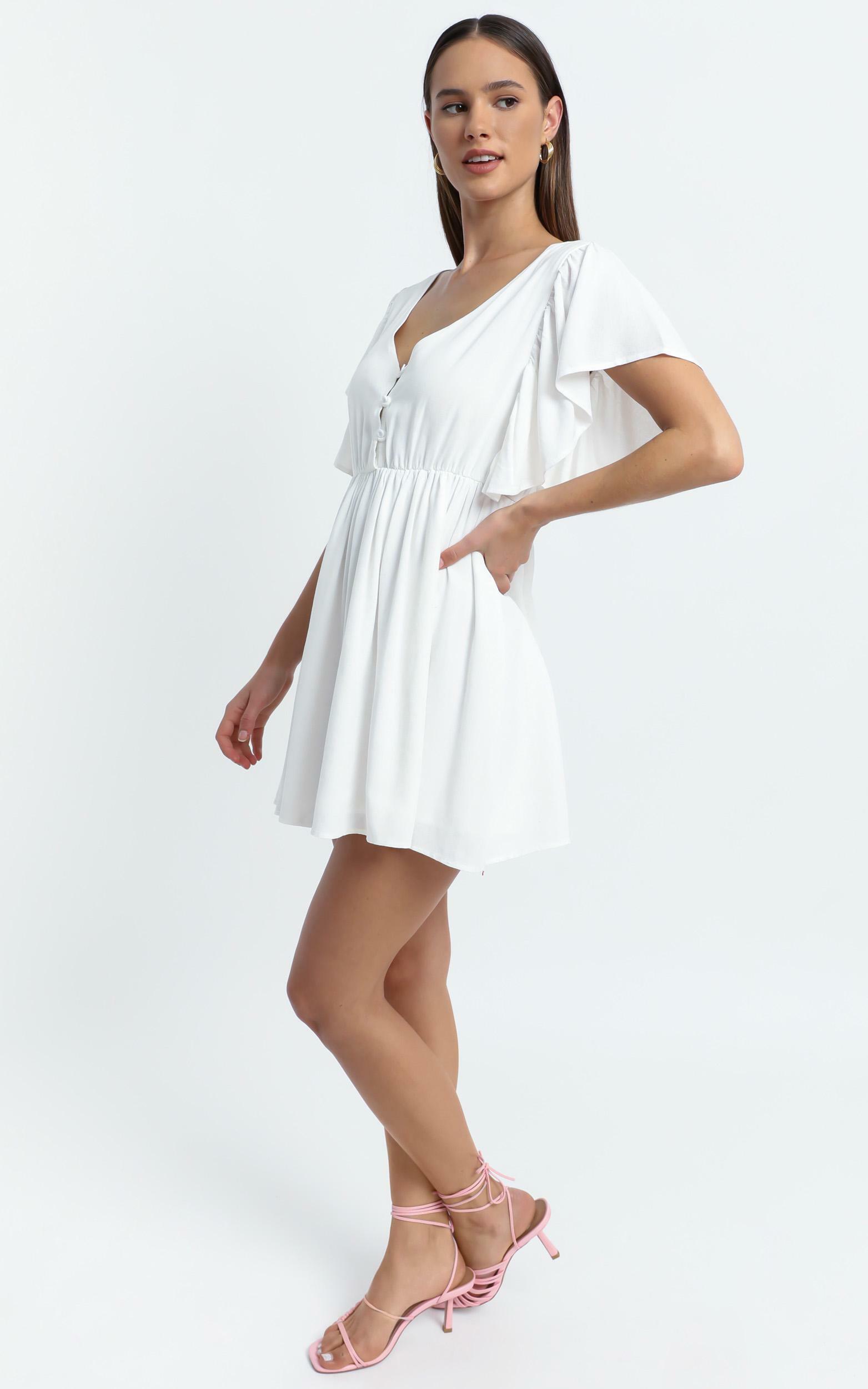 Nebraska Dress in White - 6 (XS), White, hi-res image number null