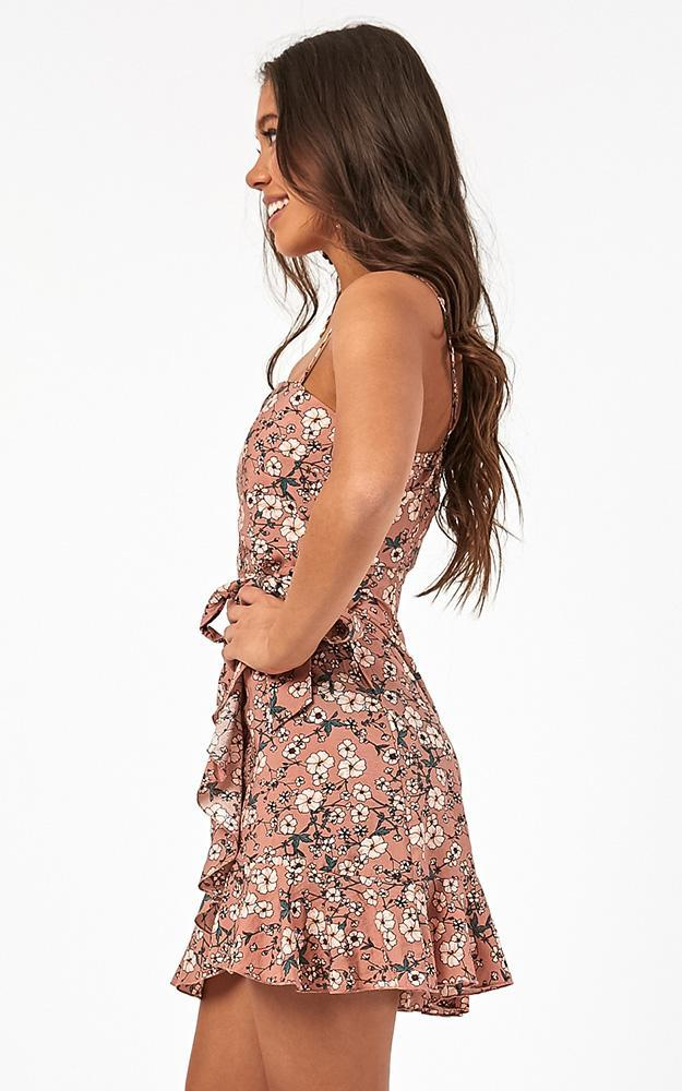 Dont Look Down dress in blush floral - 12 (L), Blush, hi-res image number null