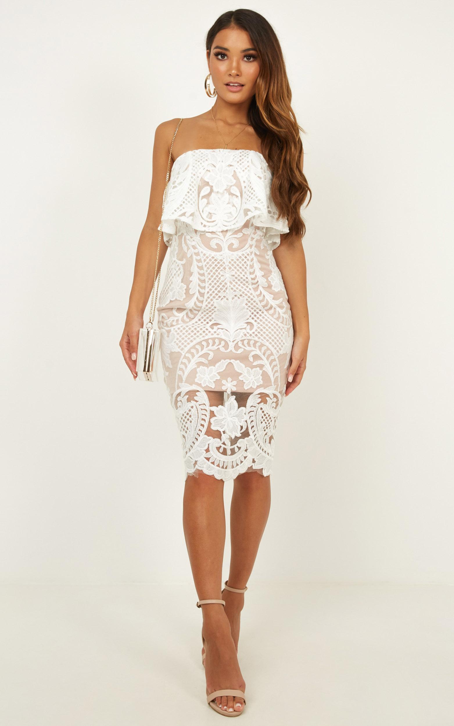 Senorita dress in white lace - 14 (XL), White, hi-res image number null