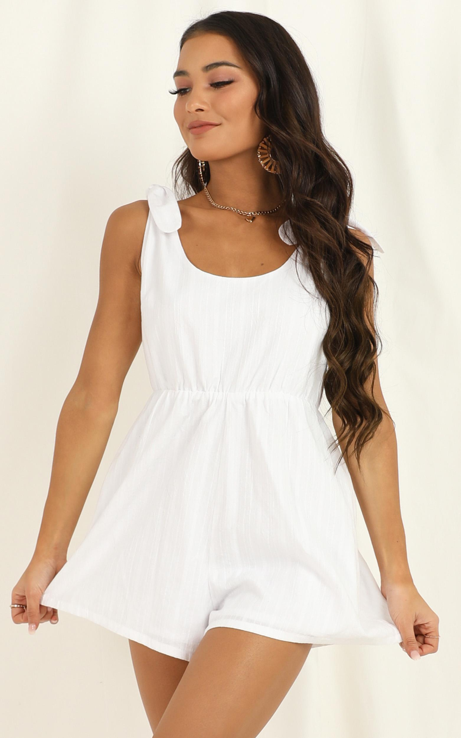 Intentions are right Playsuit in white - 20 (XXXXL), White, hi-res image number null