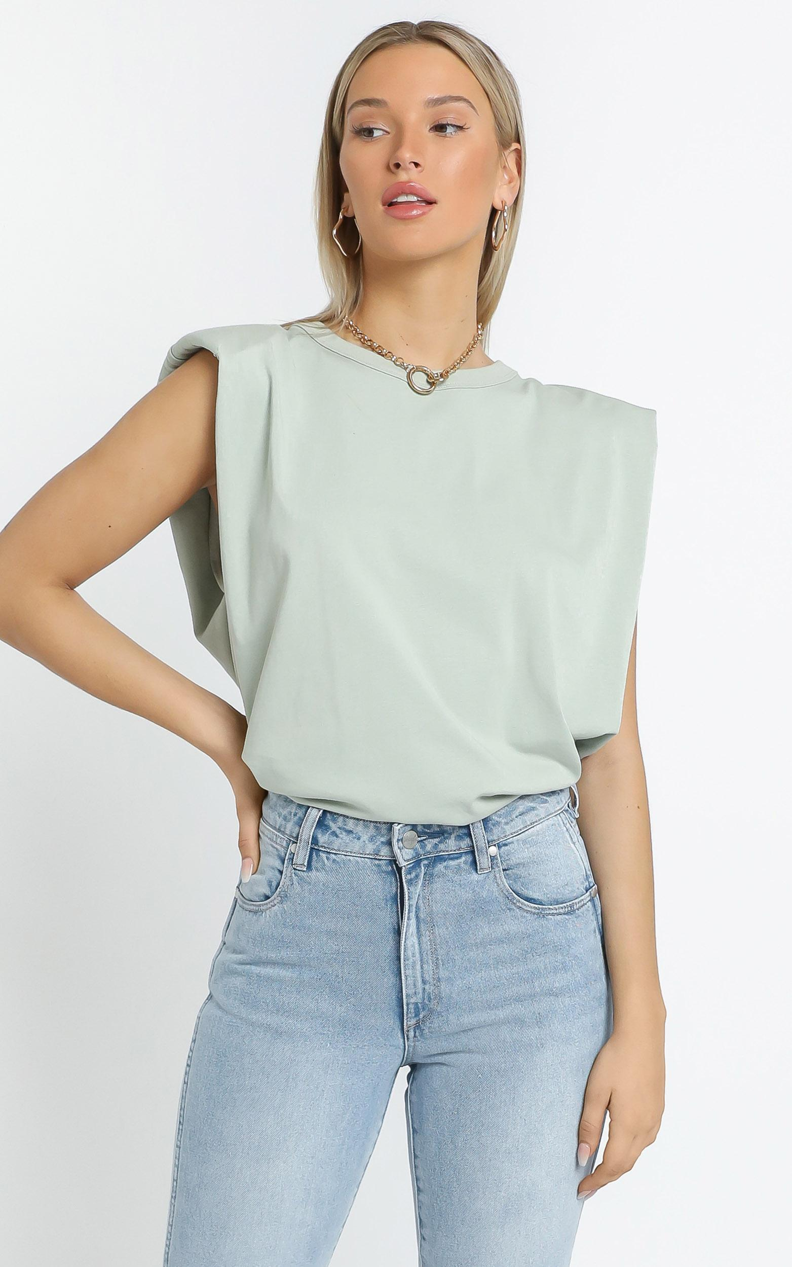 Undine Top in Sage - M/L, GRN1, hi-res image number null
