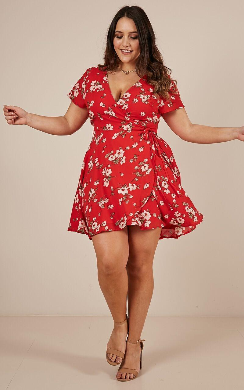 At Ease dress in red floral - 20 (XXXXL), Red, hi-res image number null