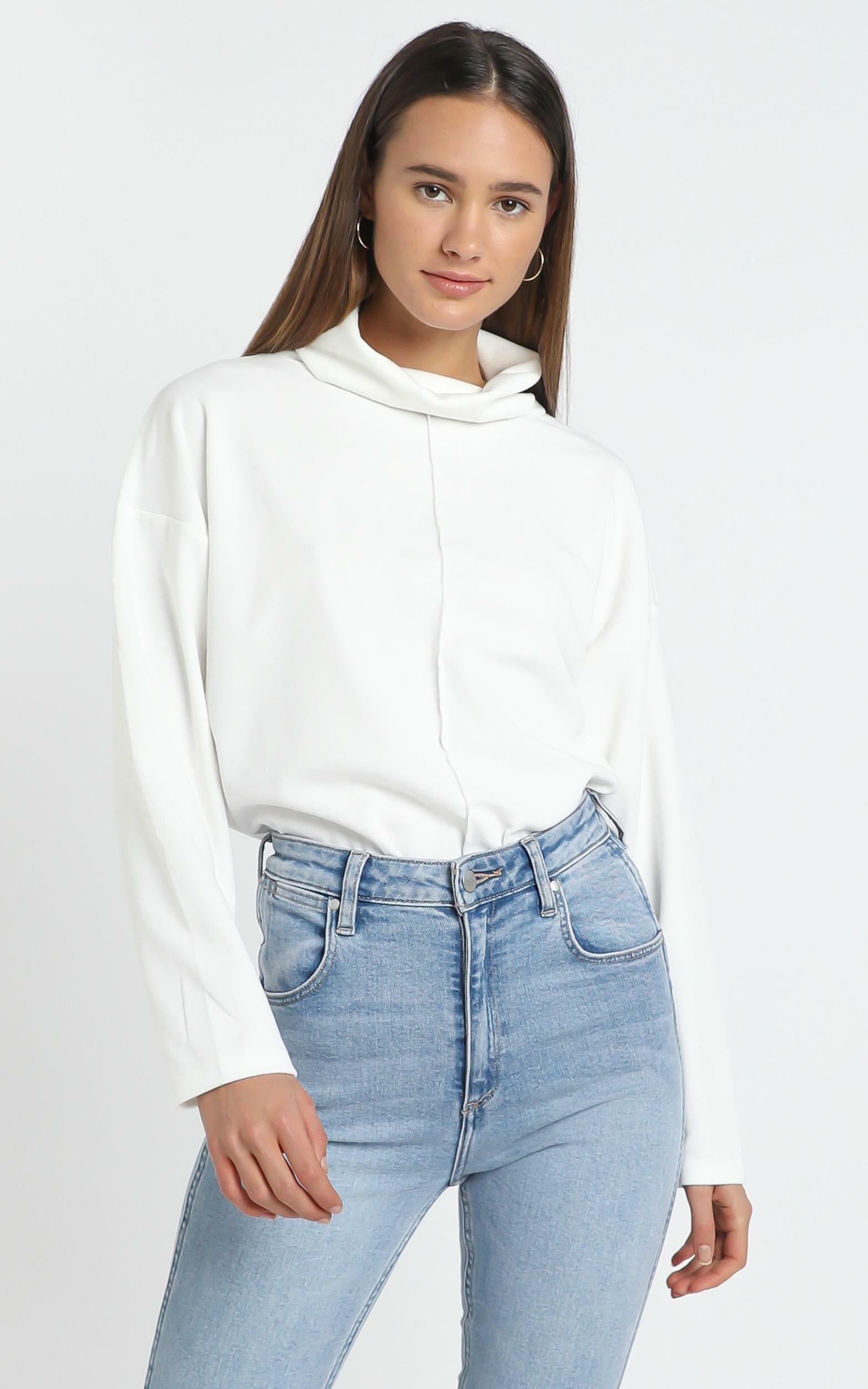 Sara Sweater in  White - 14 (XL), WHT1, hi-res image number null