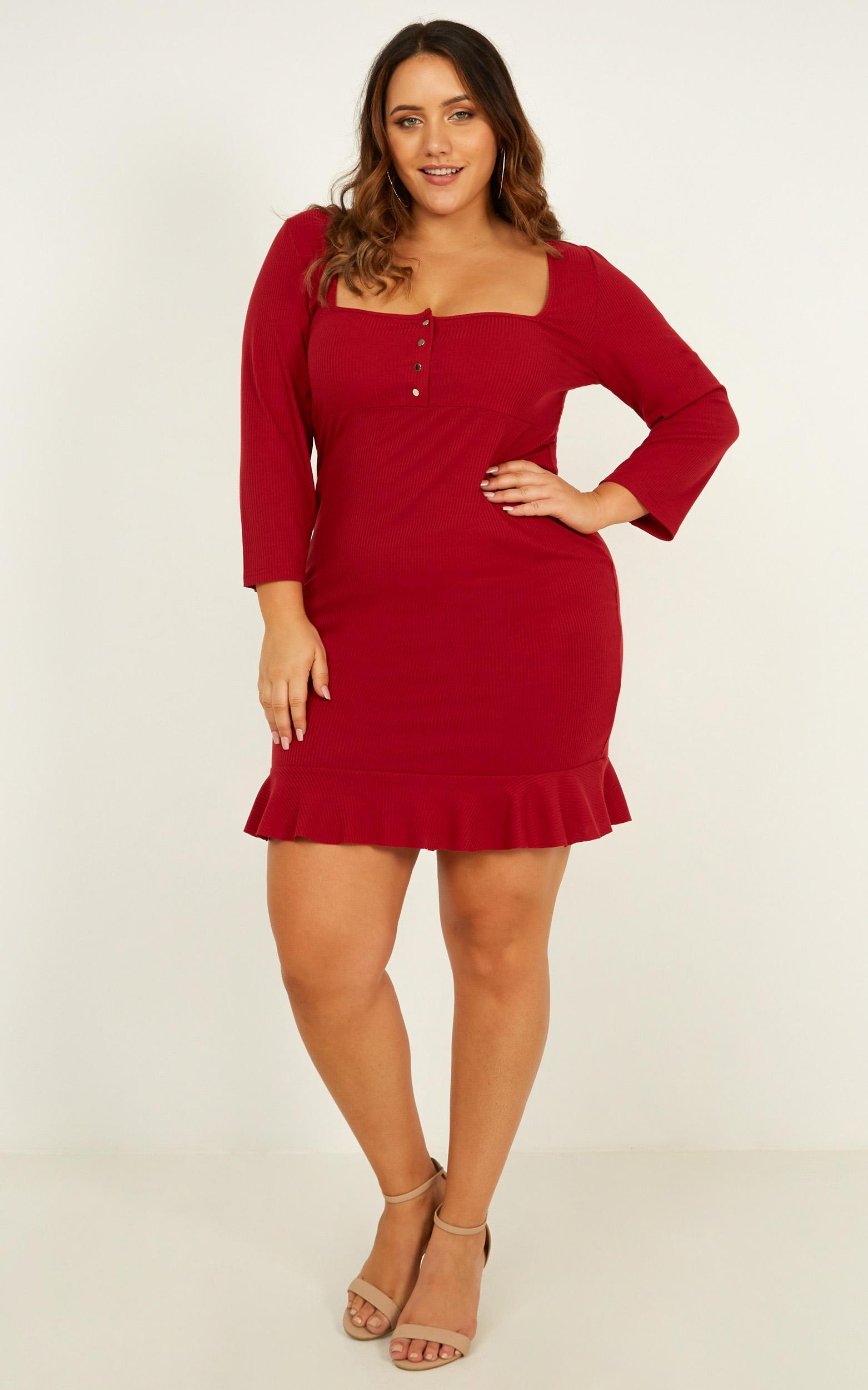 Boy Im Just Playing Dress In wine - 20 (XXXXL), Wine, hi-res image number null