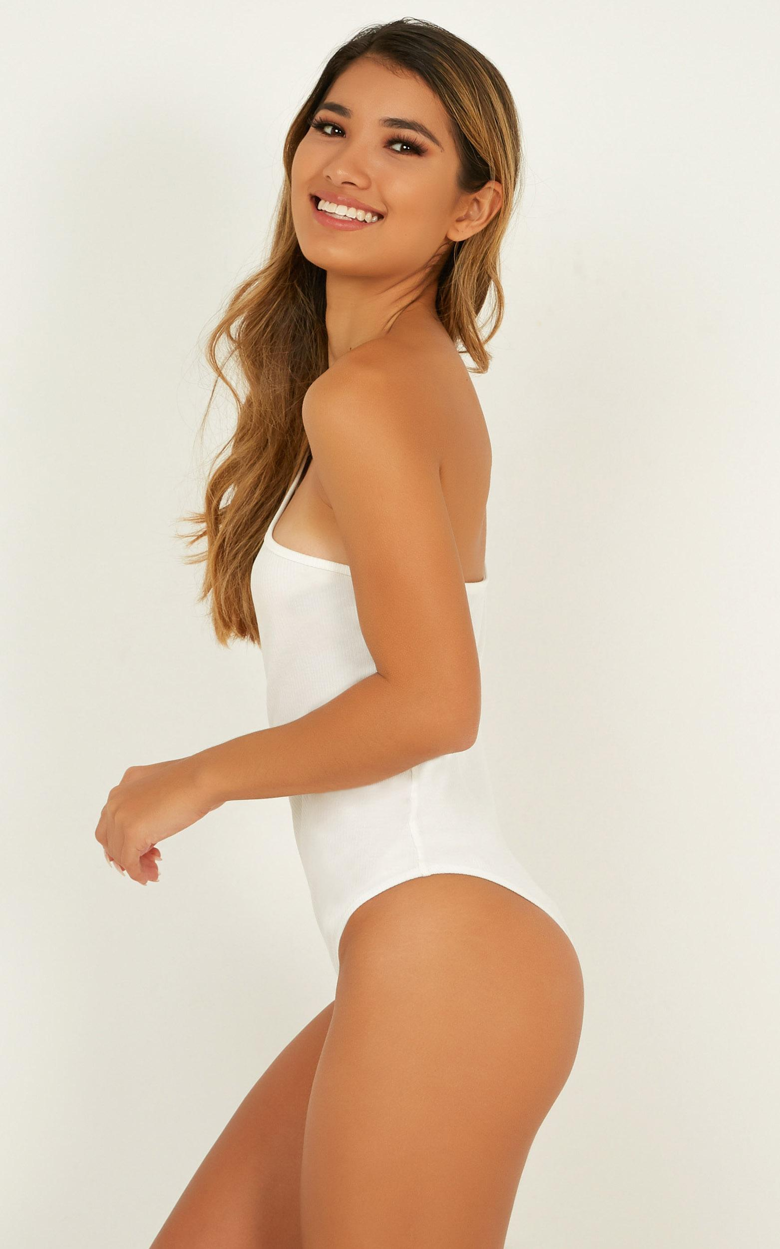 Cosmos Bodysuit In white - 12 (L), White, hi-res image number null