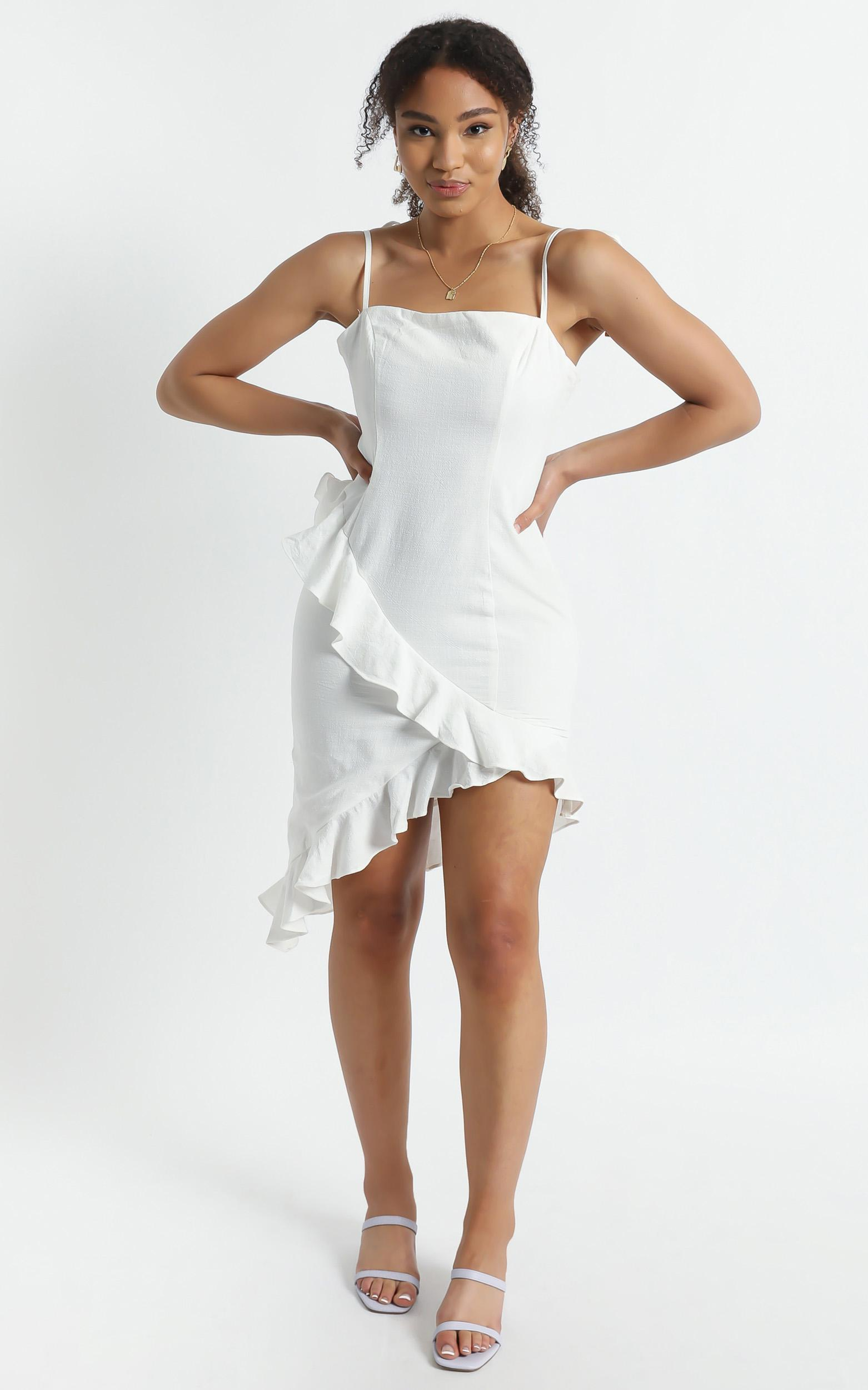 Robyn Dress In White - 6 (XS), White, hi-res image number null