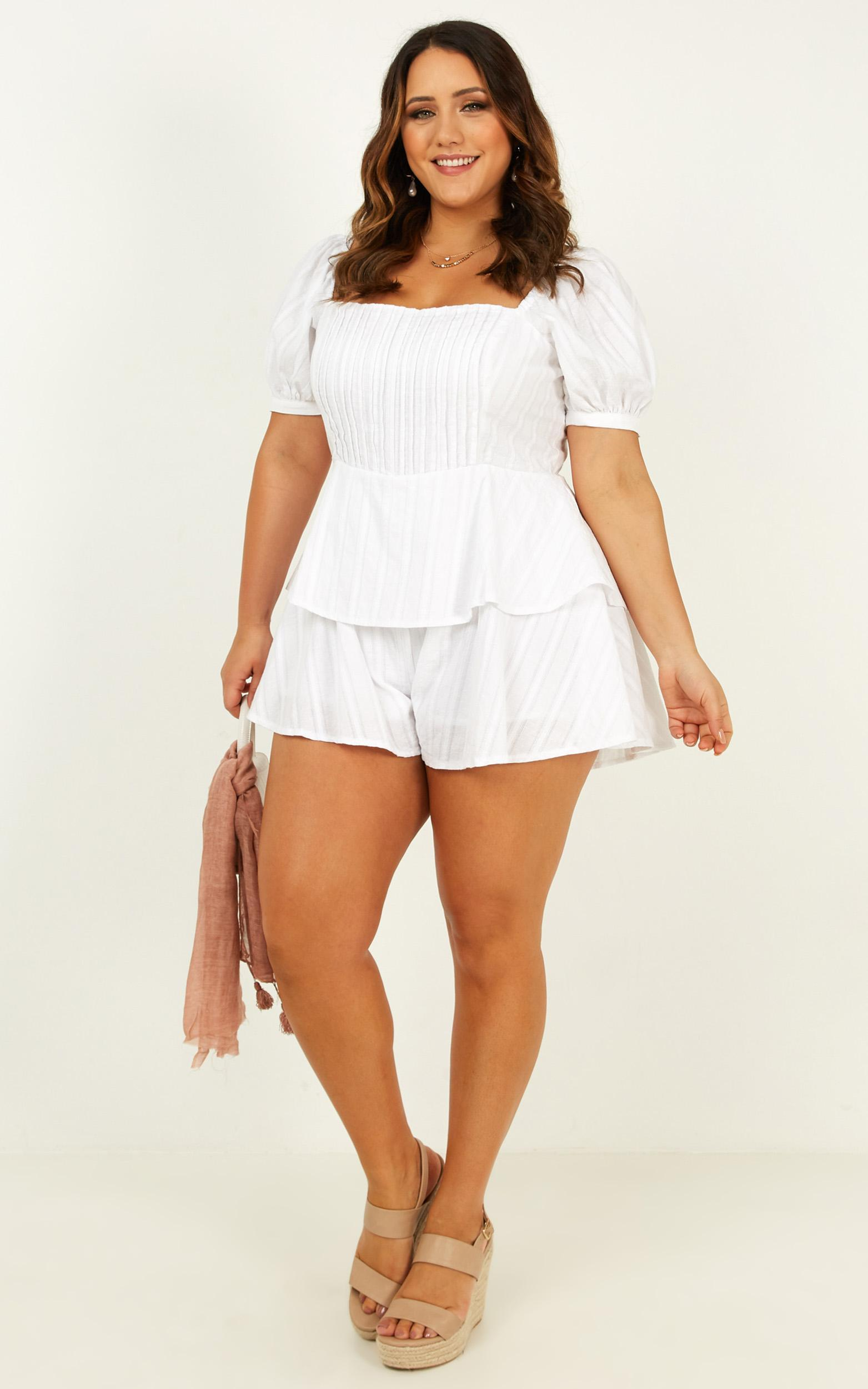 Packed and Ready Playsuit in white - 20 (XXXXL), White, hi-res image number null